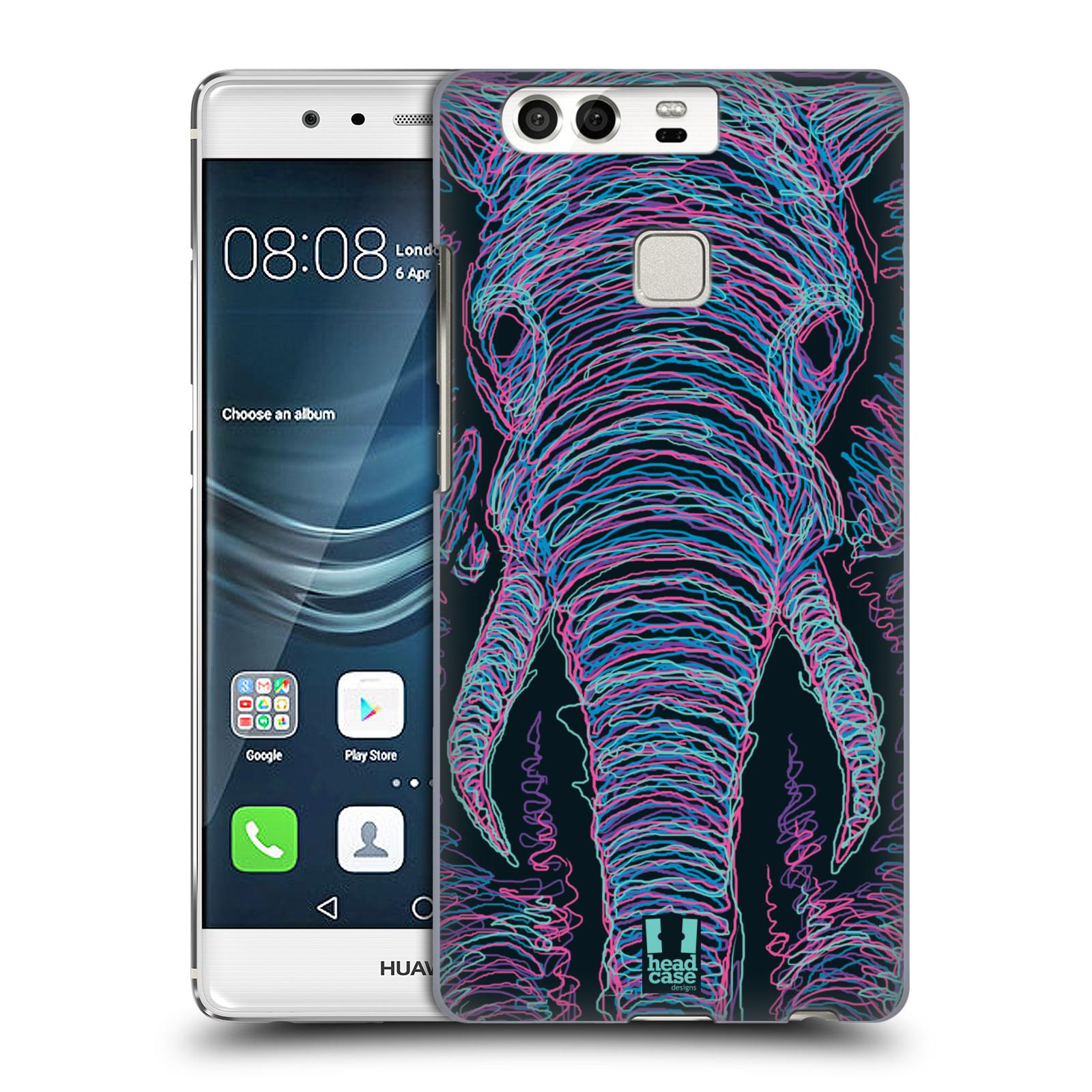 HEAD CASE plastový obal na mobil Huawei P9 / P9 DUAL SIM vzor zvíře čmáranice slon