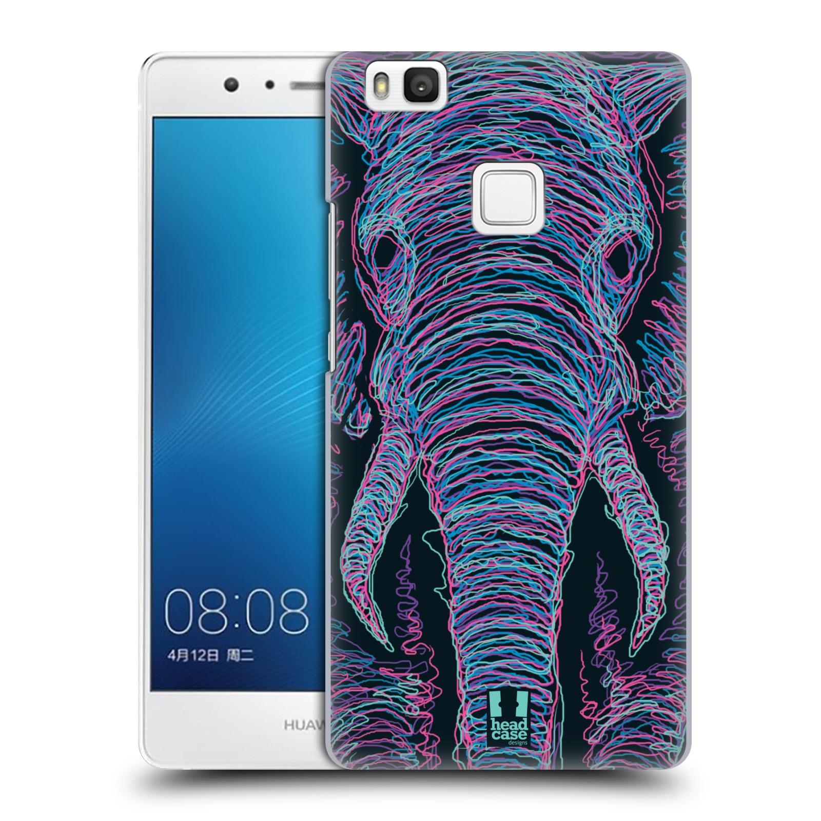 HEAD CASE plastový obal na mobil Huawei P9 LITE / P9 LITE DUAL SIM vzor zvíře čmáranice slon