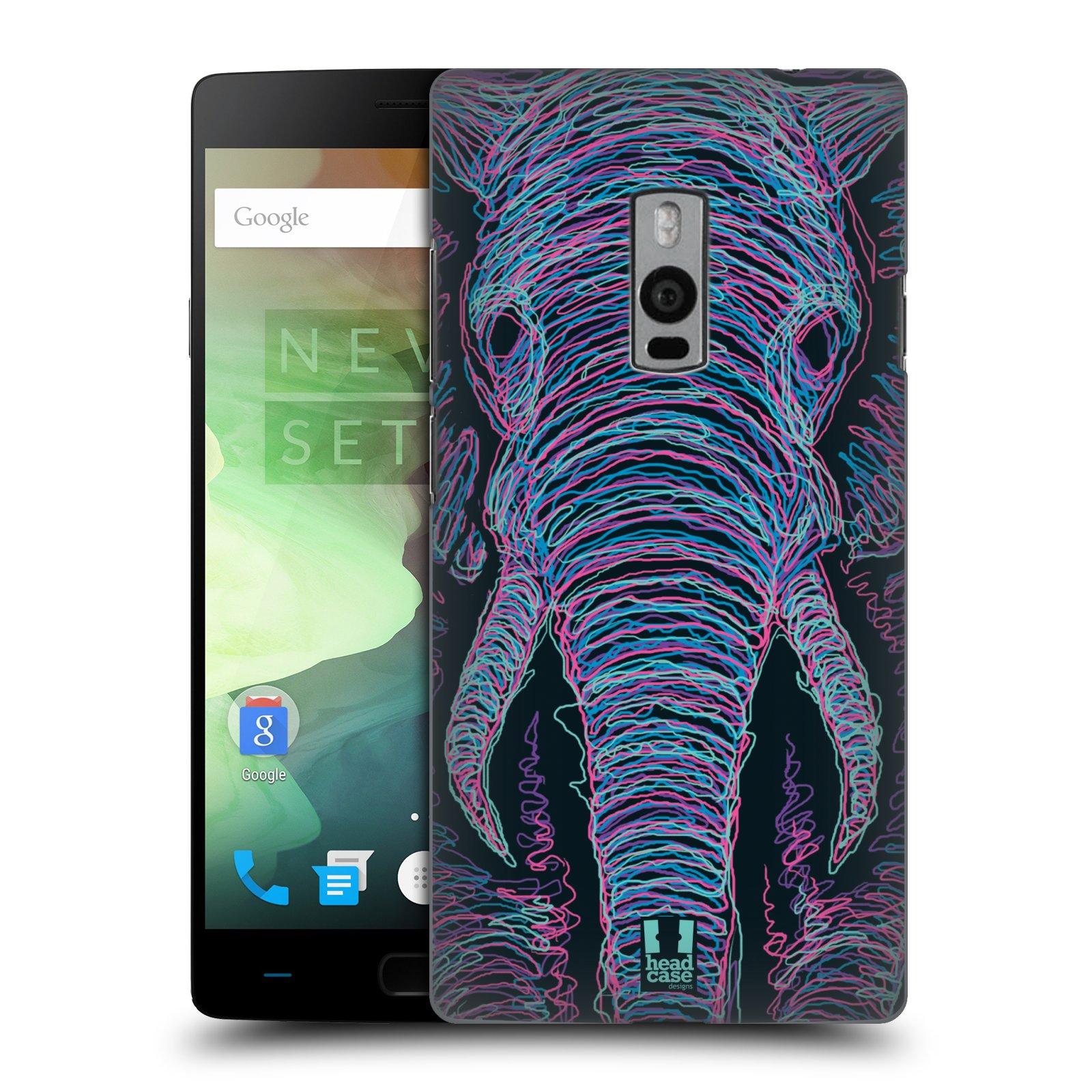 HEAD CASE pevný plastový obal na mobil OnePlus 2  ( TWO ) vzor zvíře čmáranice slon