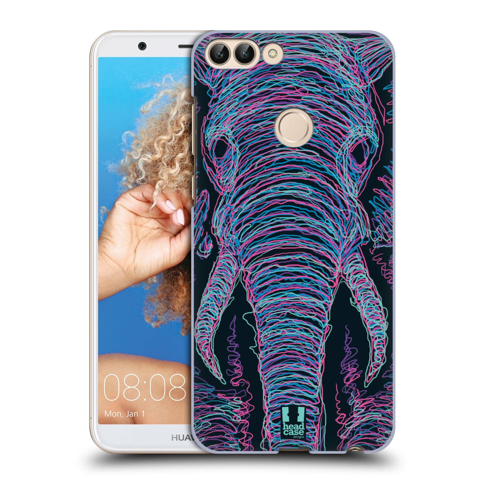 HEAD CASE plastový obal na mobil Huawei P Smart vzor zvíře čmáranice slon