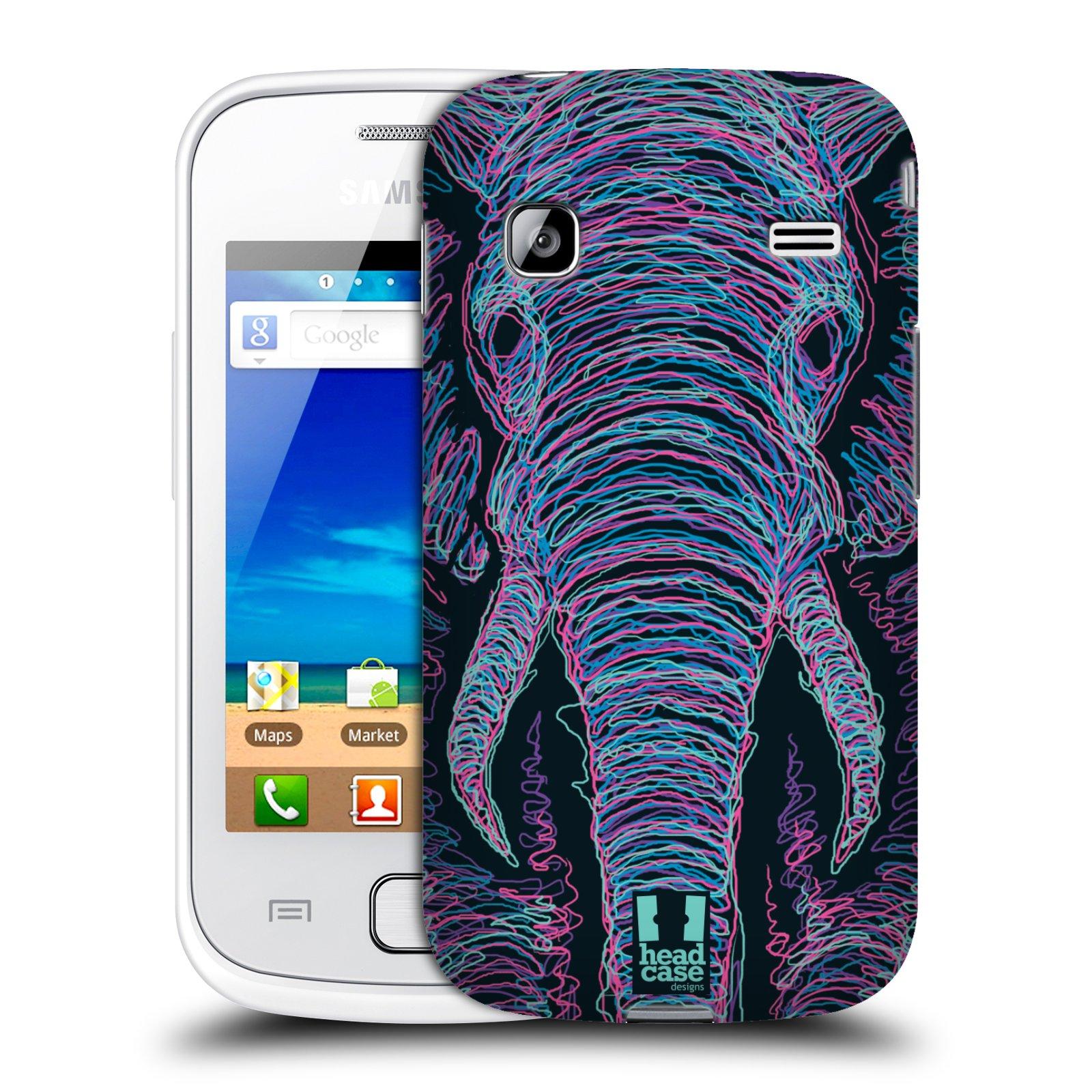 HEAD CASE plastový obal na mobil SAMSUNG GALAXY GIO (S5660) vzor zvíře čmáranice slon