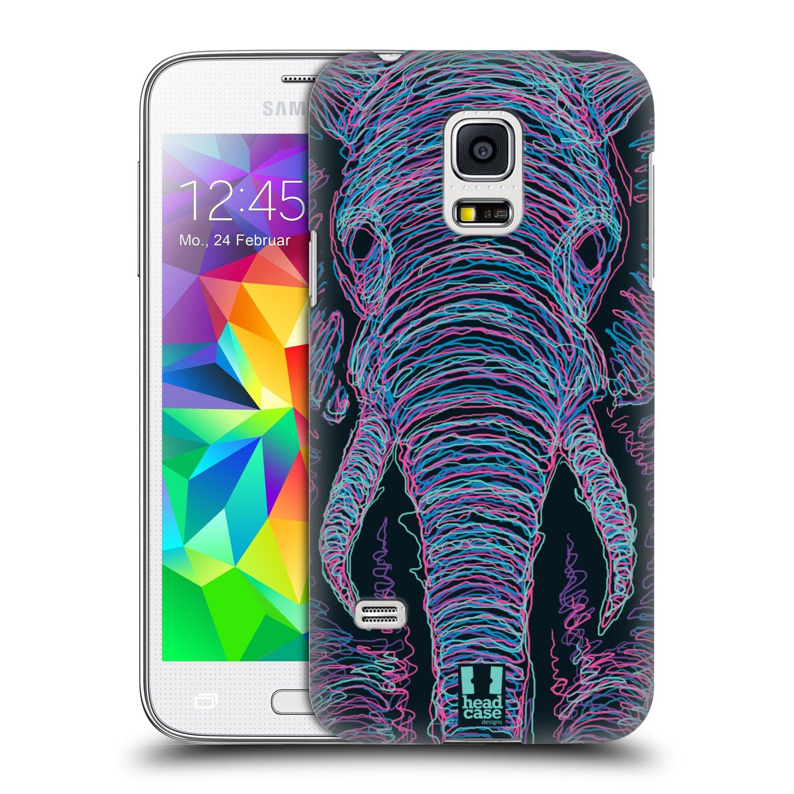 HEAD CASE plastový obal na mobil SAMSUNG Galaxy S5 MINI / S5 MINI DUOS vzor zvíře čmáranice slon