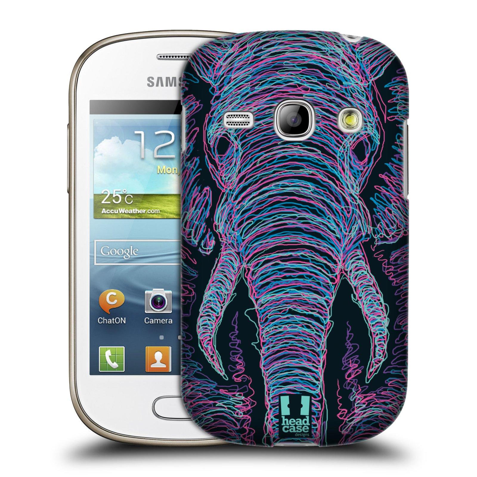 HEAD CASE plastový obal na mobil SAMSUNG GALAXY FAME (S6810) vzor zvíře čmáranice slon