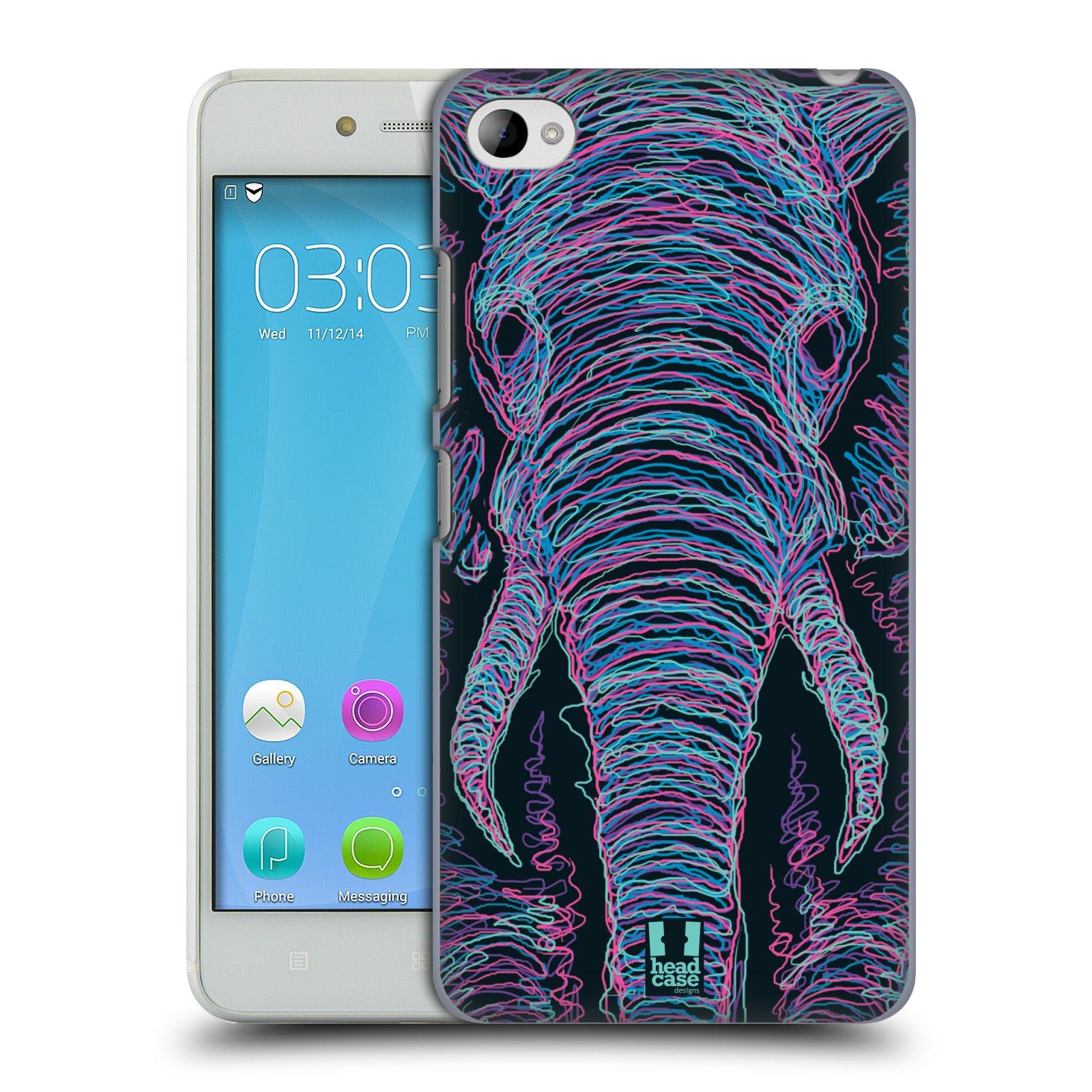 HEAD CASE pevný plastový obal na mobil LENOVO S90 vzor zvíře čmáranice slon