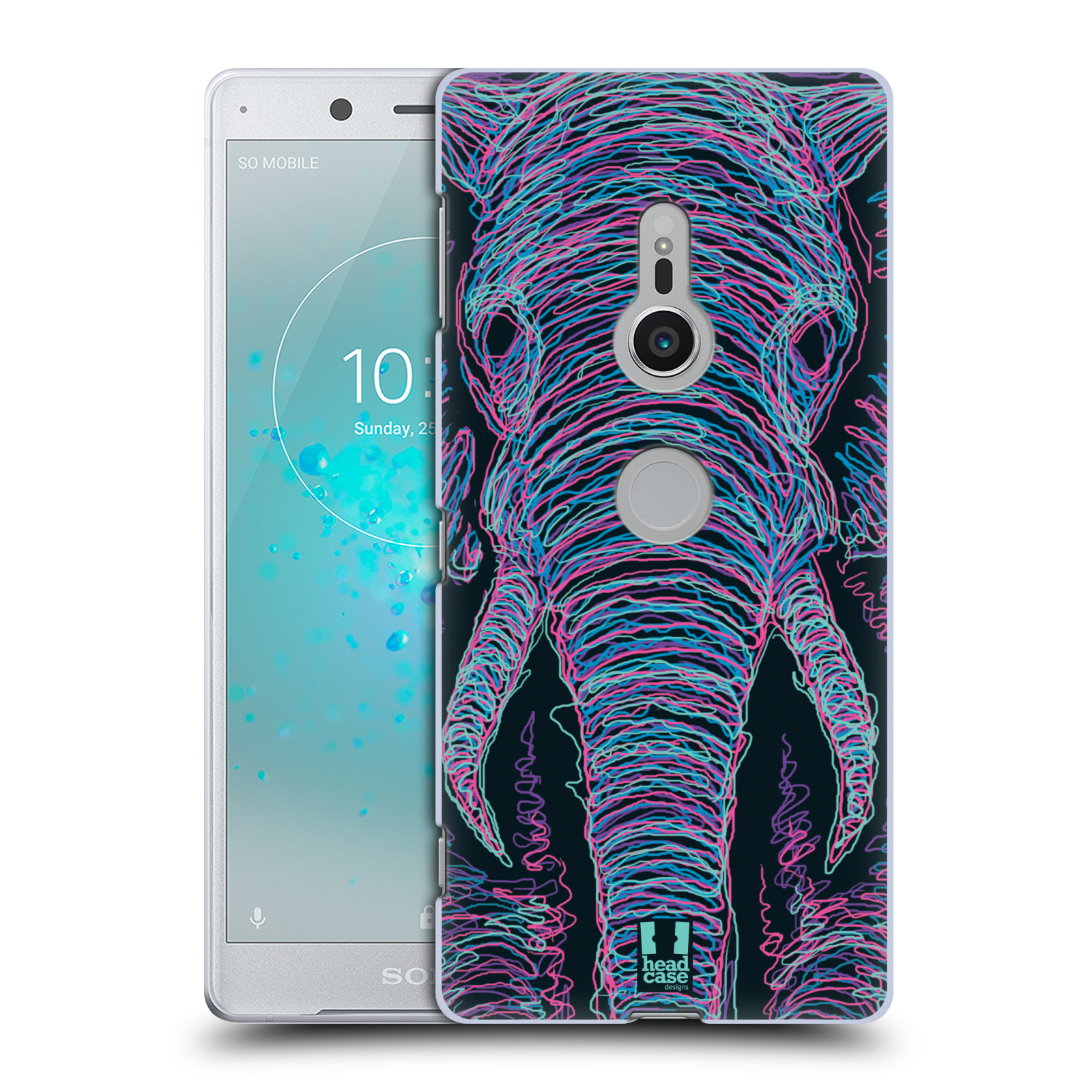 HEAD CASE plastový obal na mobil Sony Xperia XZ2 vzor zvíře čmáranice slon