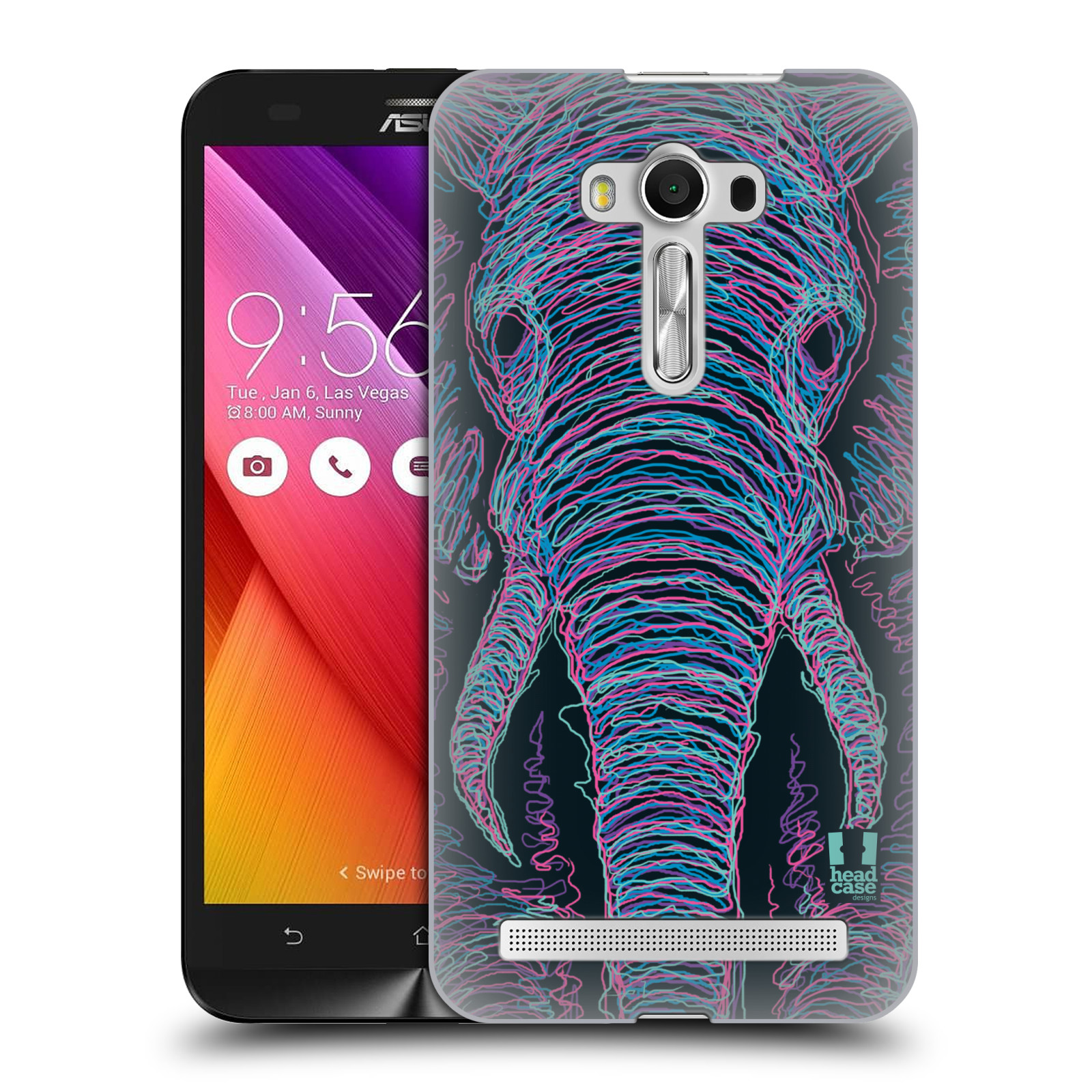 HEAD CASE plastový obal na mobil Asus Zenfone 2 LASER (5,5 displej ZE550KL) vzor zvíře čmáranice slon