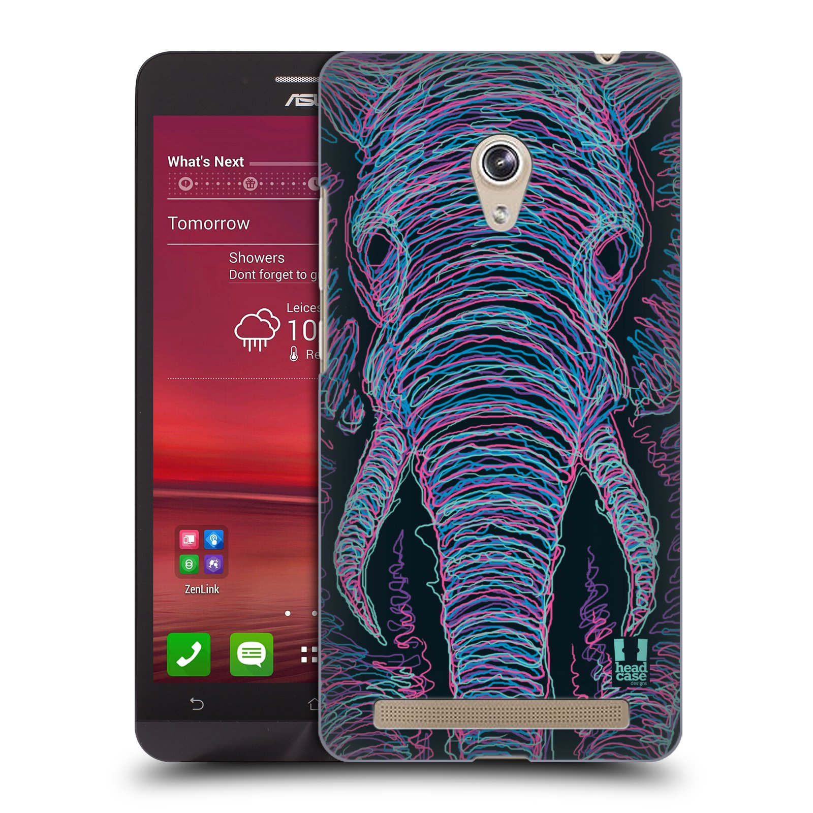 HEAD CASE plastový obal na mobil Asus Zenfone 6 vzor zvíře čmáranice slon