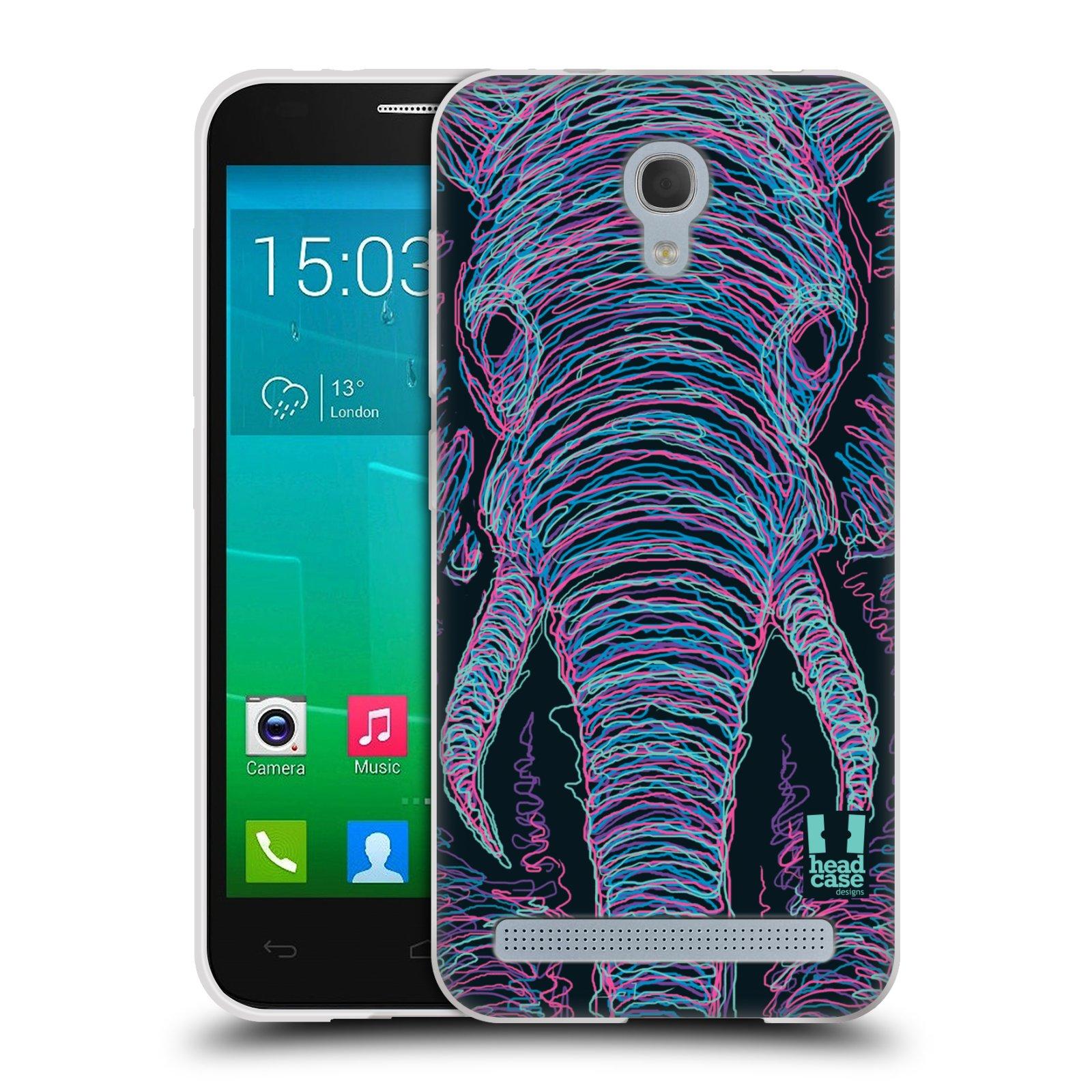 HEAD CASE silikonový obal na mobil Alcatel Idol 2 MINI S 6036Y vzor zvíře čmáranice slon
