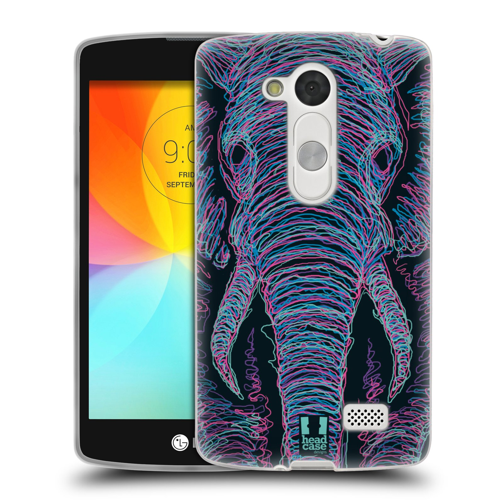 HEAD CASE SCRIBBLE ANIMAL FACES SILICONE GEL CASE FOR LG L FINO D290N