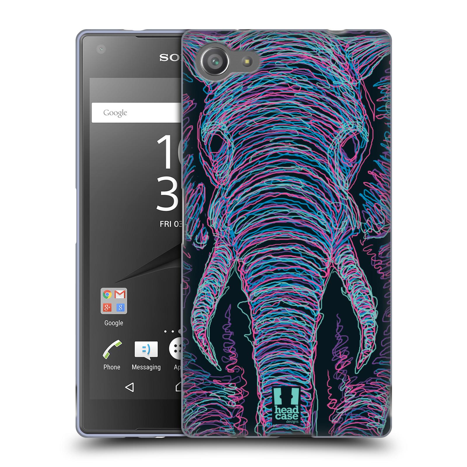 HEAD CASE silikonový obal na mobil Sony Xperia Z5 COMPACT vzor zvíře čmáranice slon
