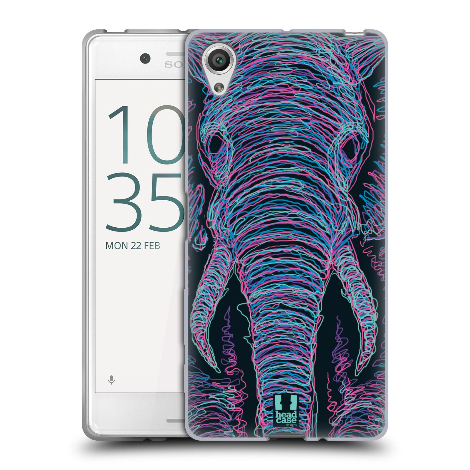 HEAD CASE silikonový obal na mobil Sony Xperia X / X DUAL vzor zvíře čmáranice slon