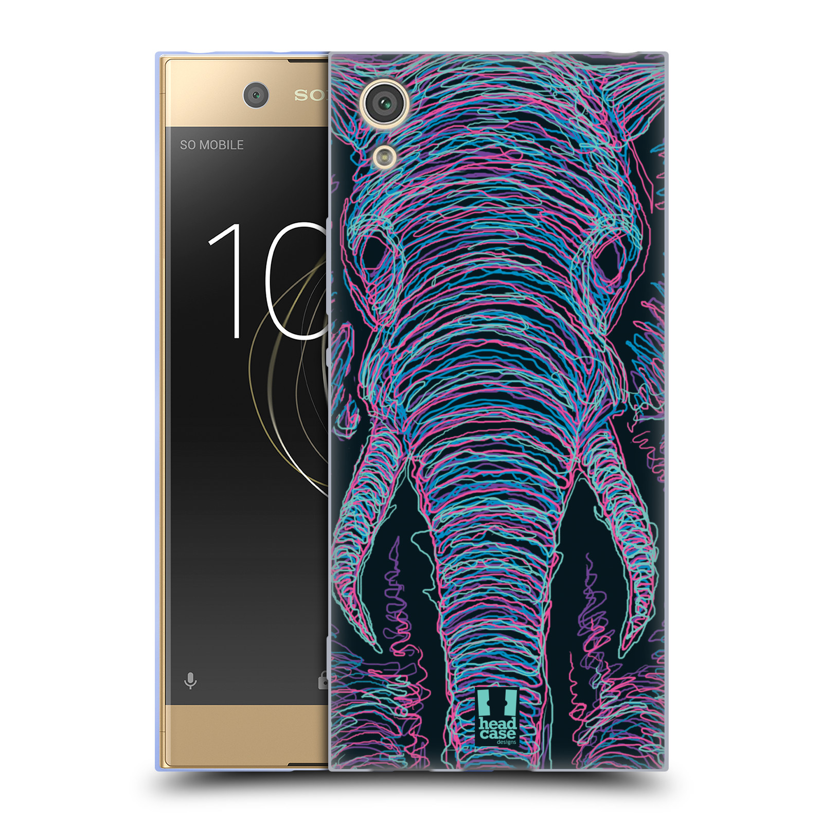 HEAD CASE silikonový obal na mobil Sony Xperia XA1 / XA1 DUAL SIM vzor zvíře čmáranice slon