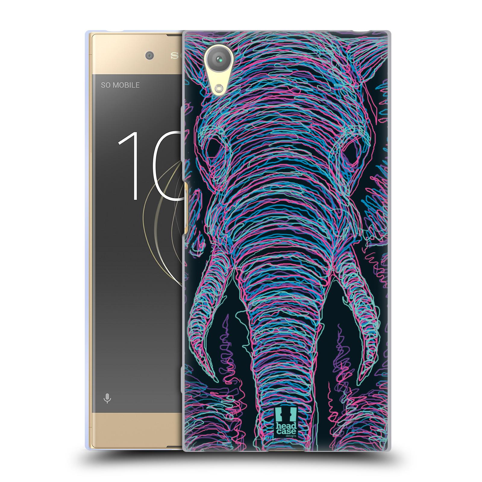 HEAD CASE silikonový obal na mobil Sony Xperia XA1 PLUS vzor zvíře čmáranice slon