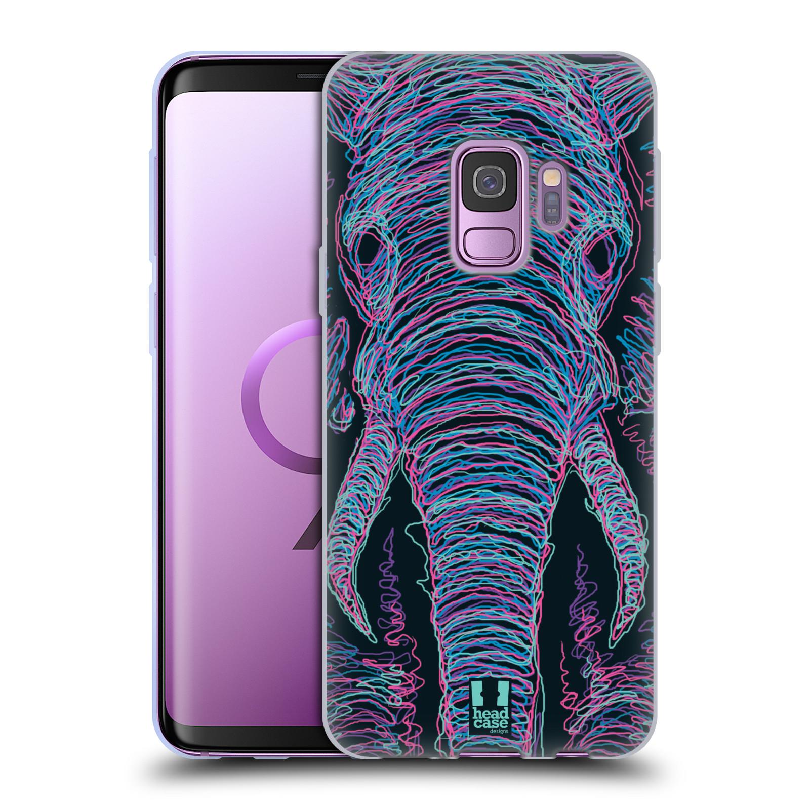 HEAD CASE silikonový obal na mobil Samsung Galaxy S9 vzor zvíře čmáranice slon