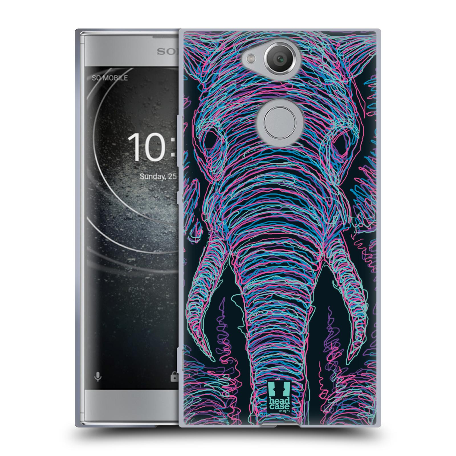 Pouzdro na mobil Sony Xperia XA2 (DUAL SIM, SINGLE SIM) vzor zvíře čmáranice slon