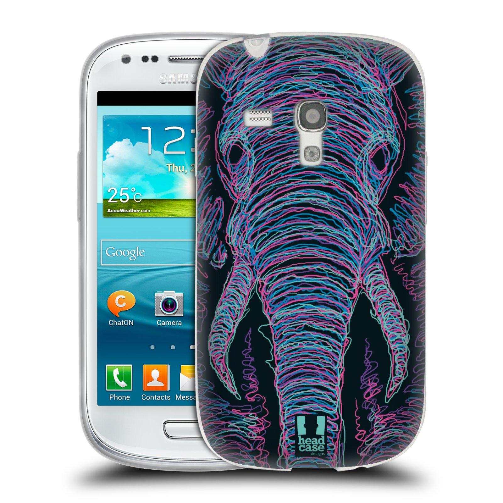HEAD CASE silikonový obal na mobil Samsung Galaxy S3 MINI i8190 vzor zvíře čmáranice slon