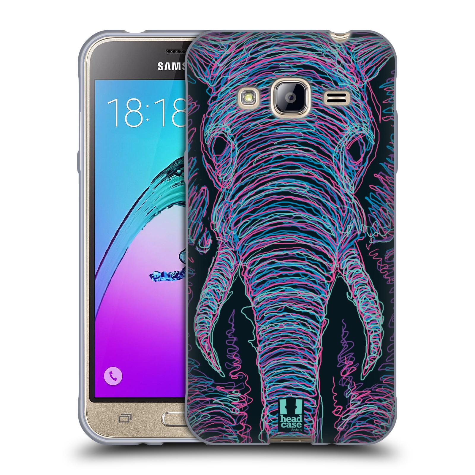 HEAD CASE silikonový obal na mobil Samsung Galaxy J3, J3 2016 vzor zvíře čmáranice slon
