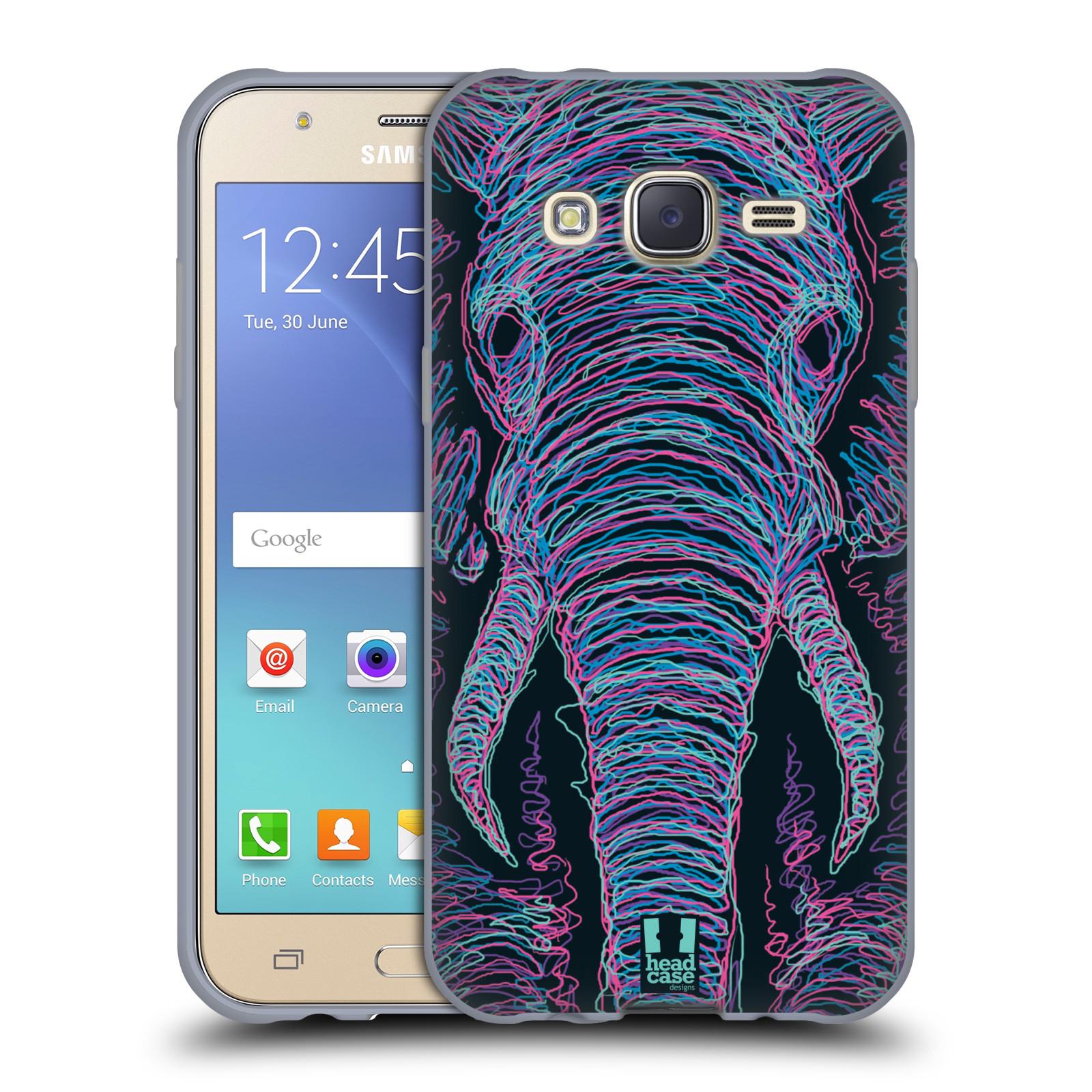 HEAD CASE silikonový obal na mobil Samsung Galaxy J5, J500, (J5 DUOS) vzor zvíře čmáranice slon