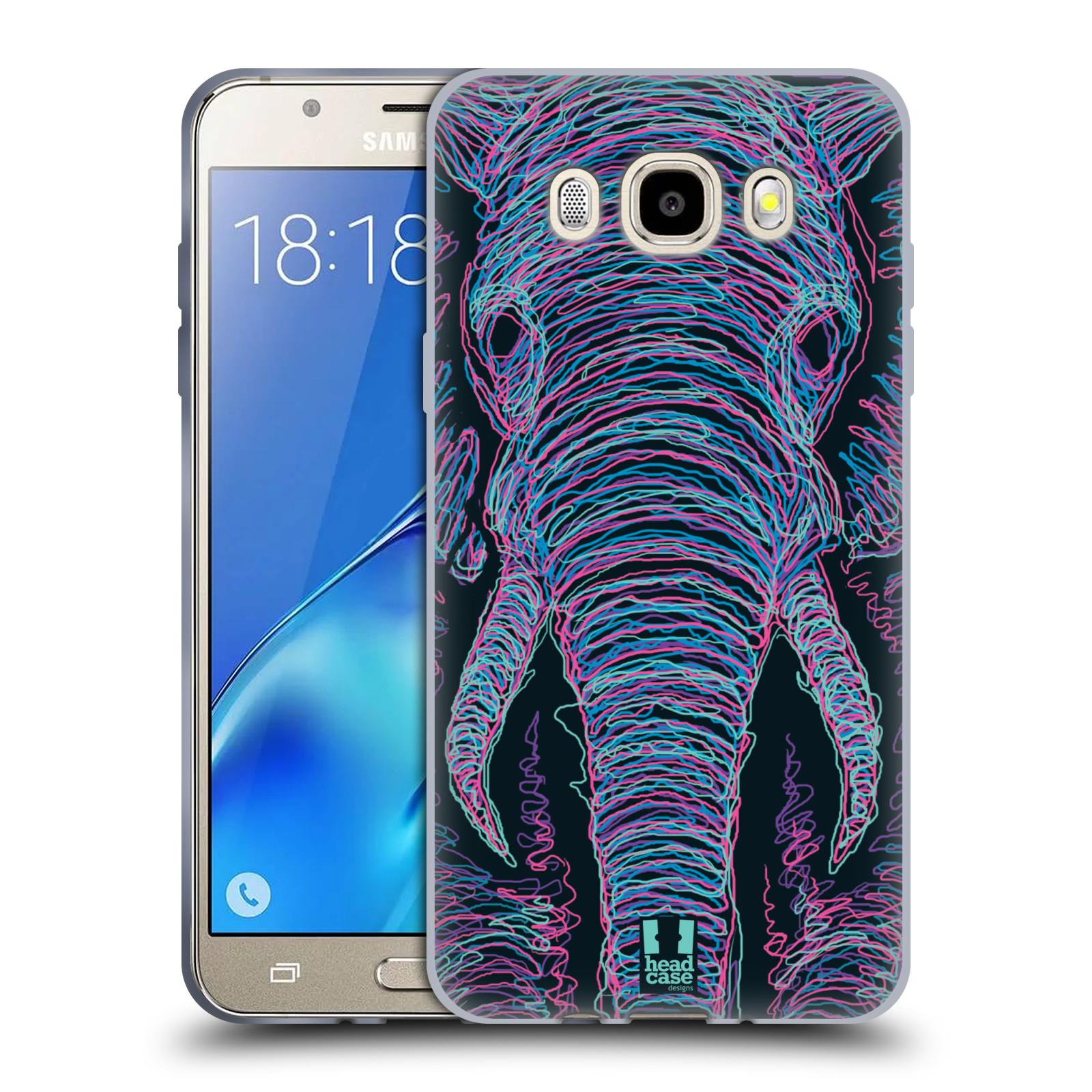 HEAD CASE silikonový obal, kryt na mobil Samsung Galaxy J5 2016, J510, J510F, (J510F DUAL SIM) vzor zvíře čmáranice slon
