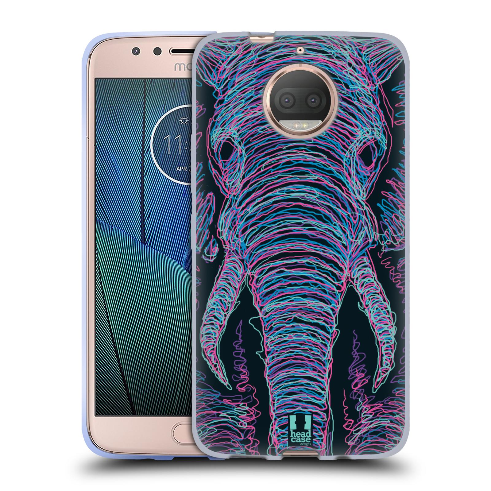 HEAD CASE silikonový obal na mobil Lenovo Moto G5s PLUS vzor zvíře čmáranice slon