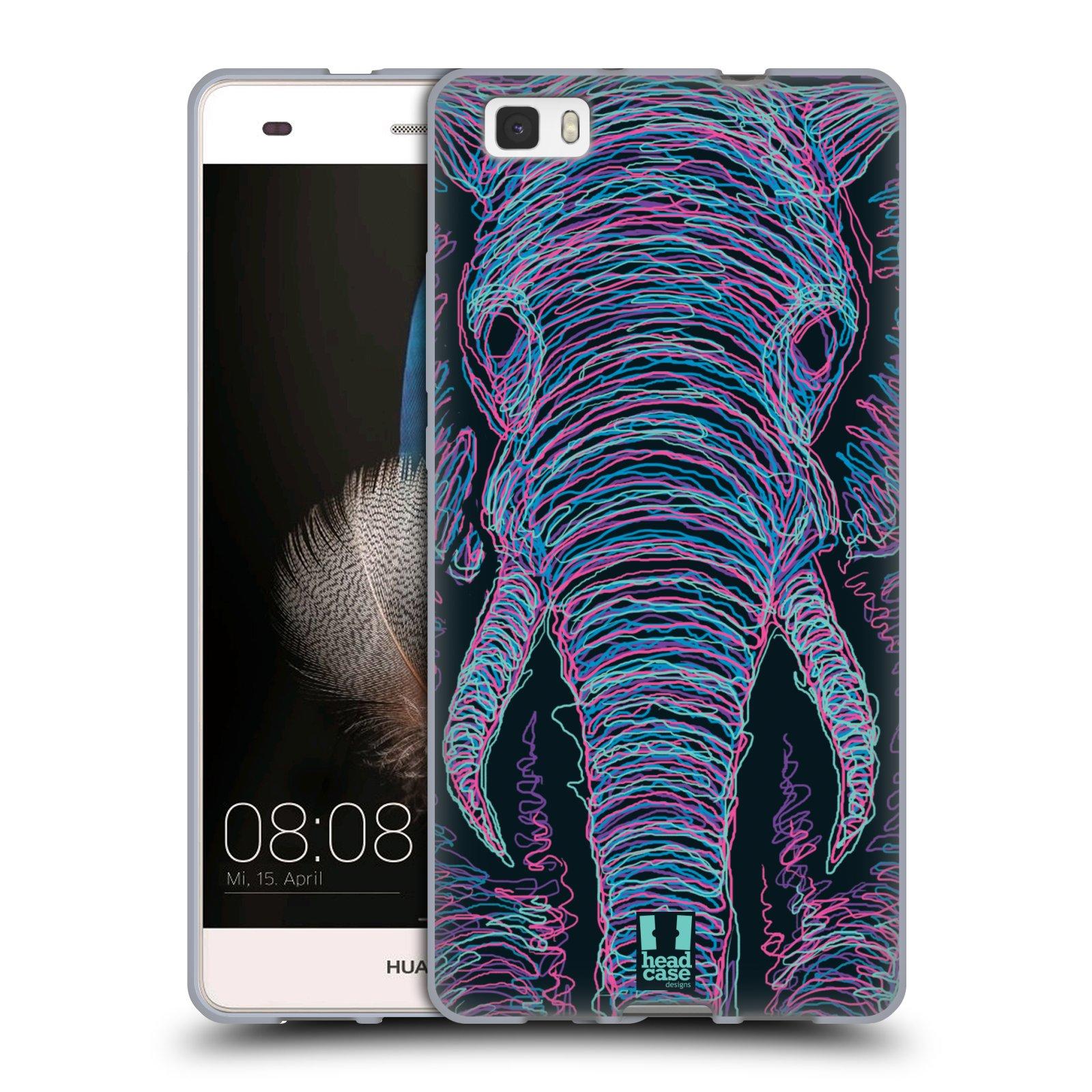 HEAD CASE silikonový obal na mobil HUAWEI P8 LITE vzor zvíře čmáranice slon