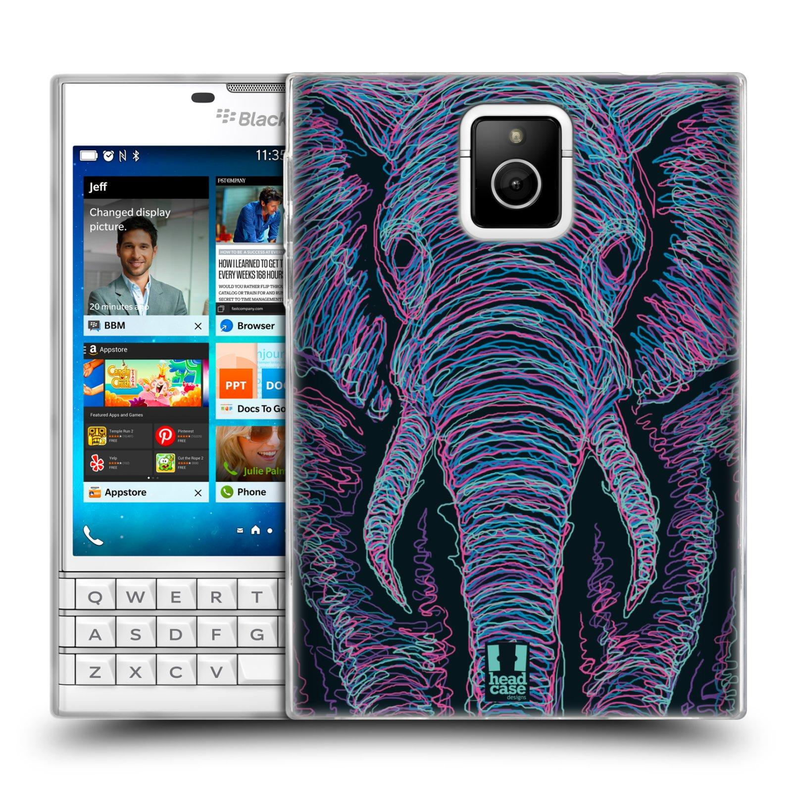 HEAD CASE silikonový obal na mobil Blackberry PASSPORT vzor zvíře čmáranice slon