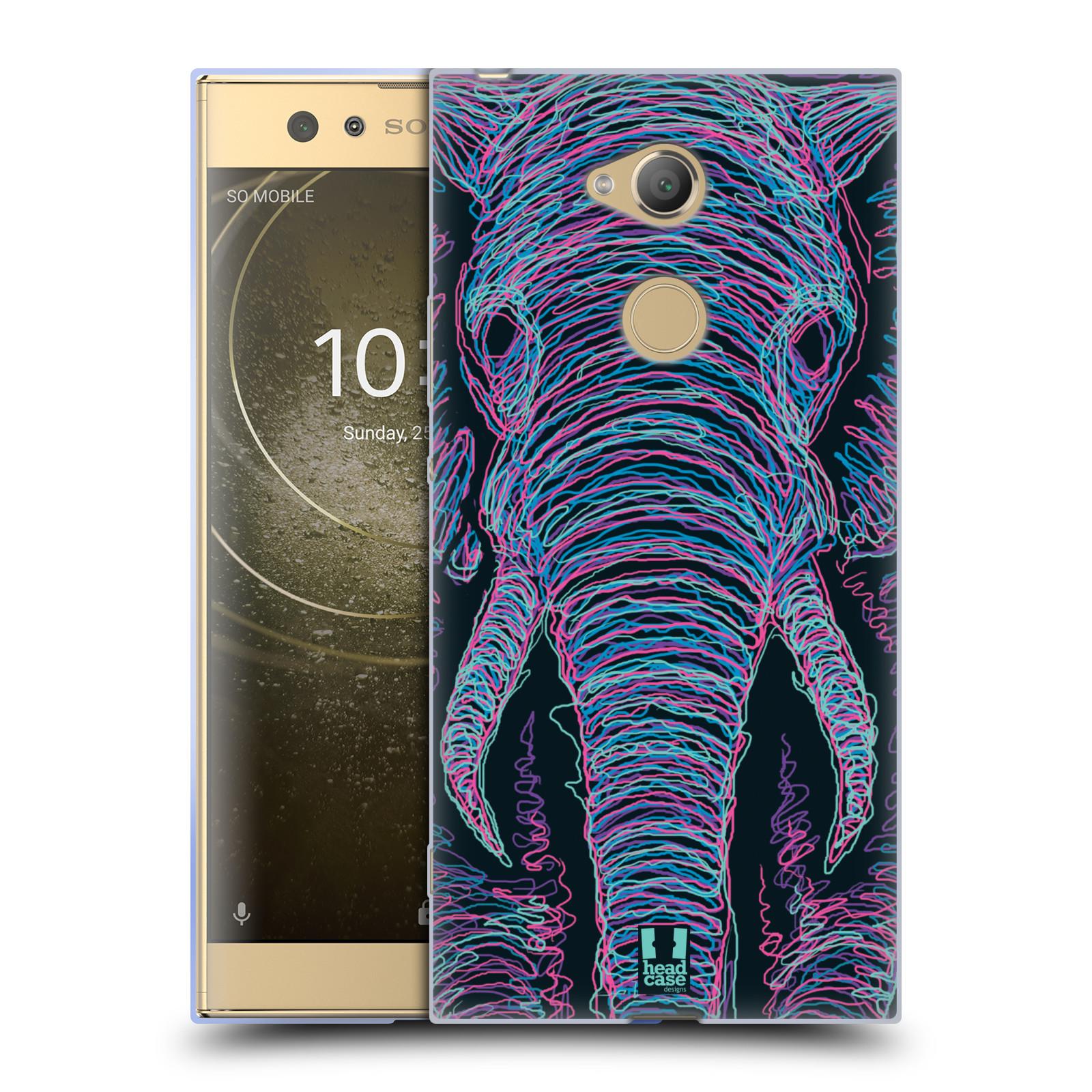 Pouzdro na mobil Sony Xperia XA2 Ultra vzor zvíře čmáranice slon