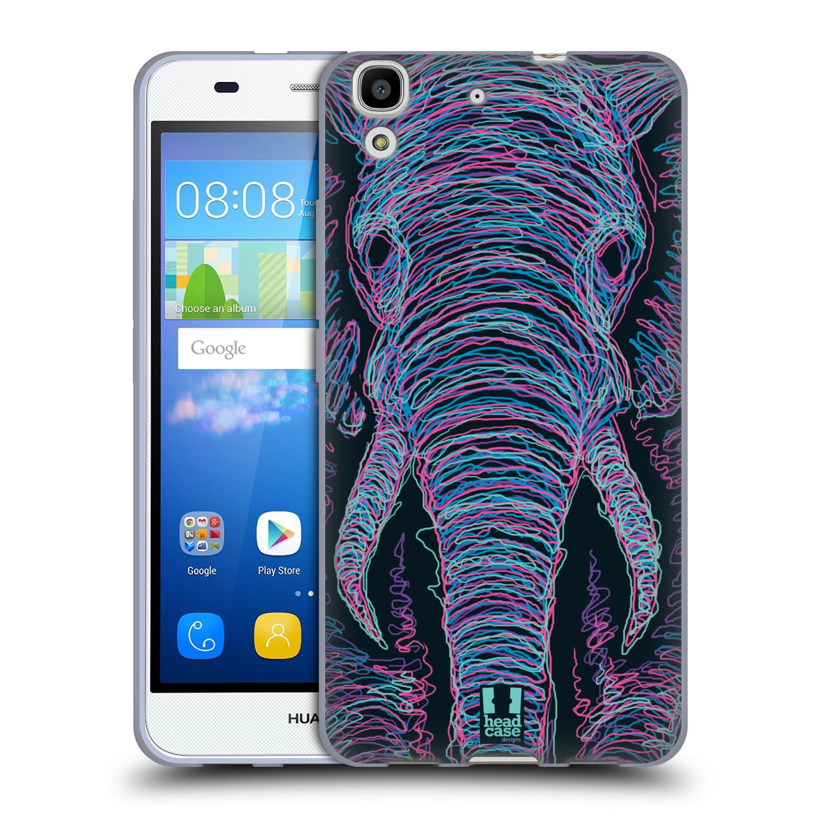 HEAD CASE silikonový obal na mobil HUAWEI Y6 vzor zvíře čmáranice slon