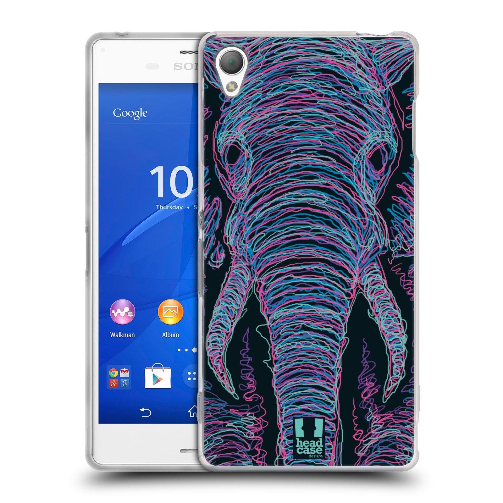 HEAD CASE silikonový obal na mobil Sony Xperia Z3 vzor zvíře čmáranice slon