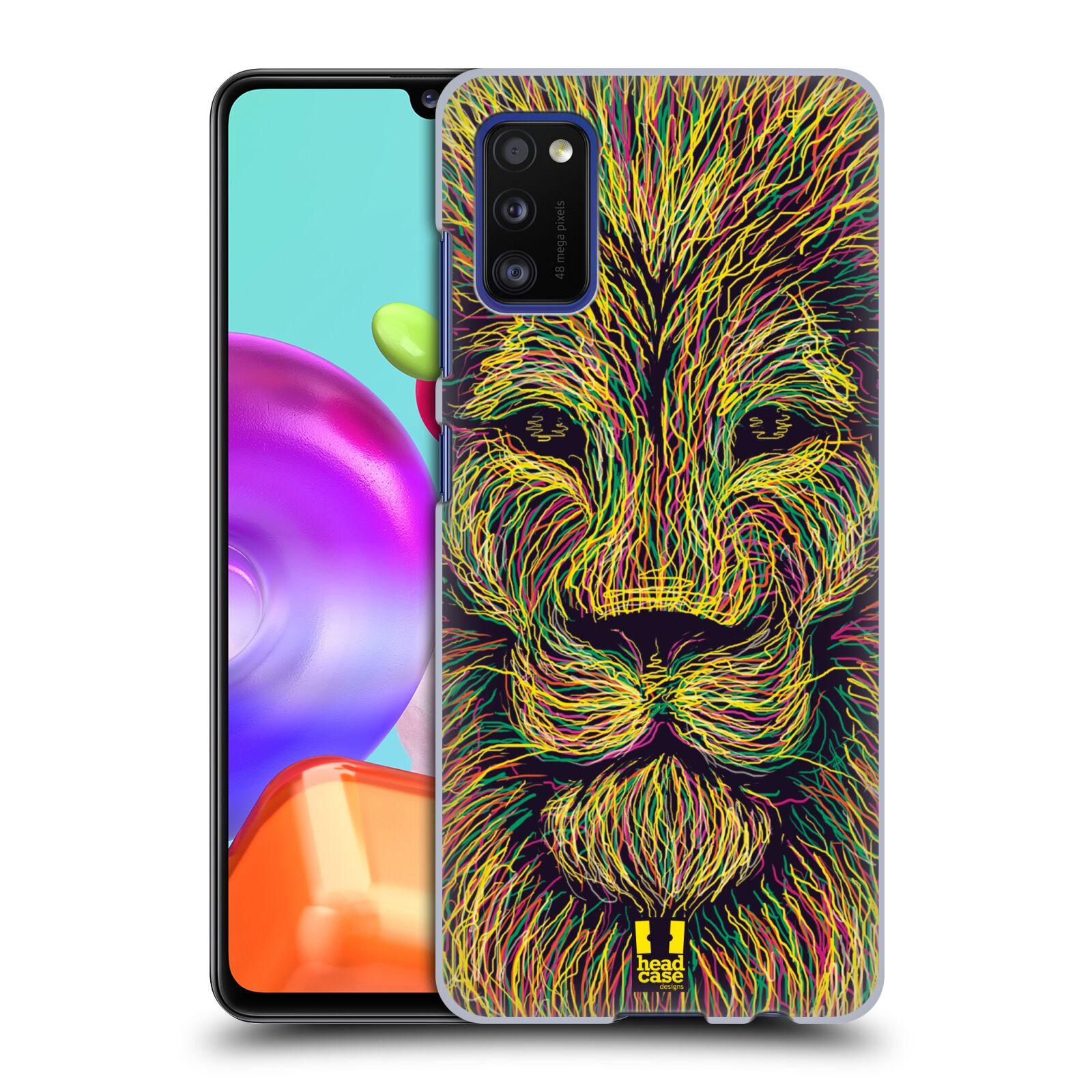 Zadní kryt na mobil Samsung Galaxy A41 vzor zvíře čmáranice lev
