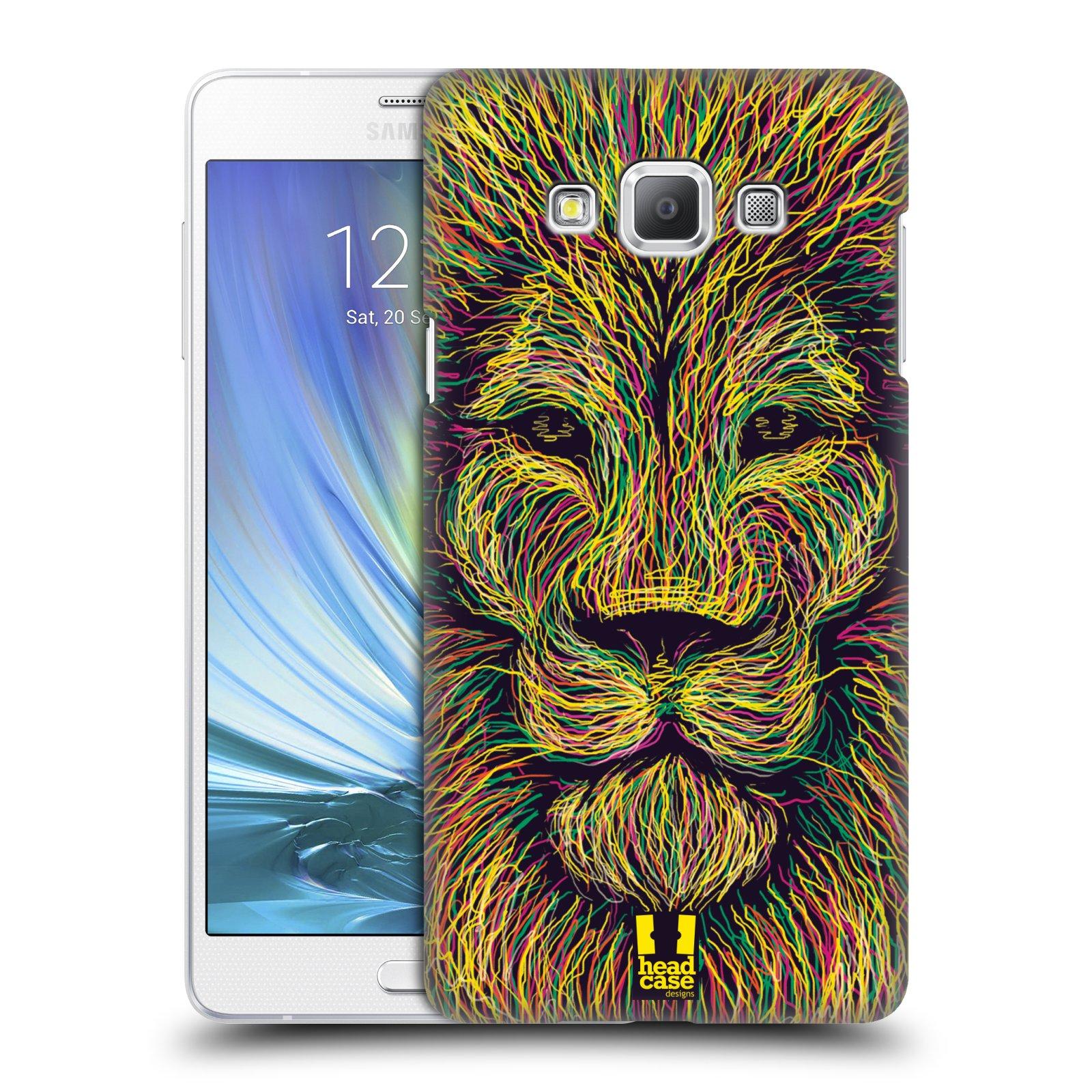 HEAD CASE plastový obal na mobil SAMSUNG GALAXY A7 vzor zvíře čmáranice lev