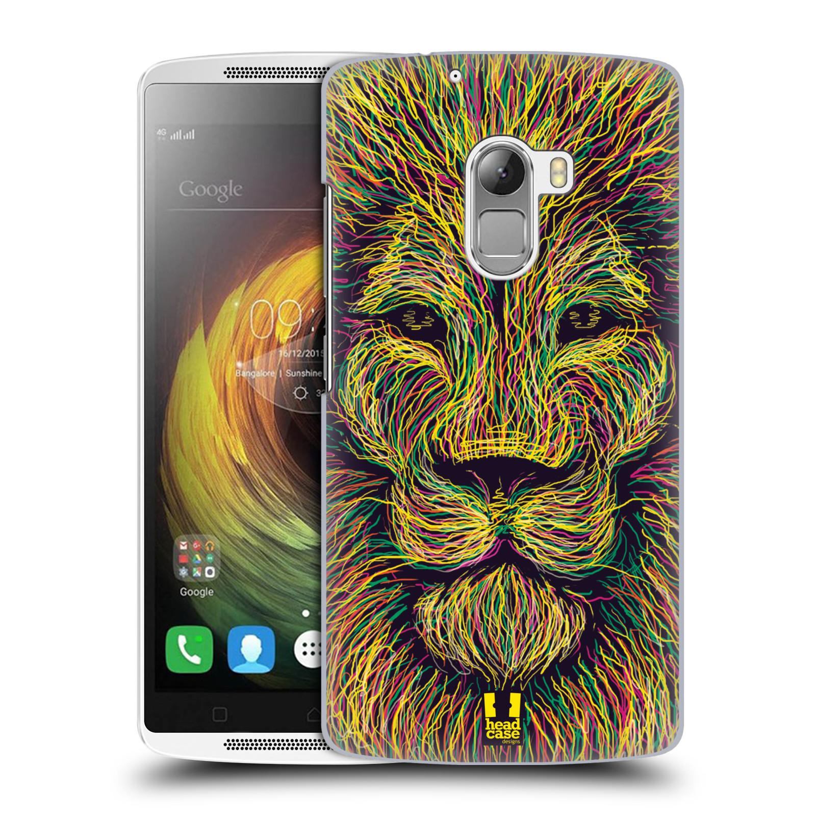 HEAD CASE pevný plastový obal na mobil LENOVO A7010 / A7010 DUAL / K4 Note / Vibe X3 lite vzor zvíře čmáranice lev