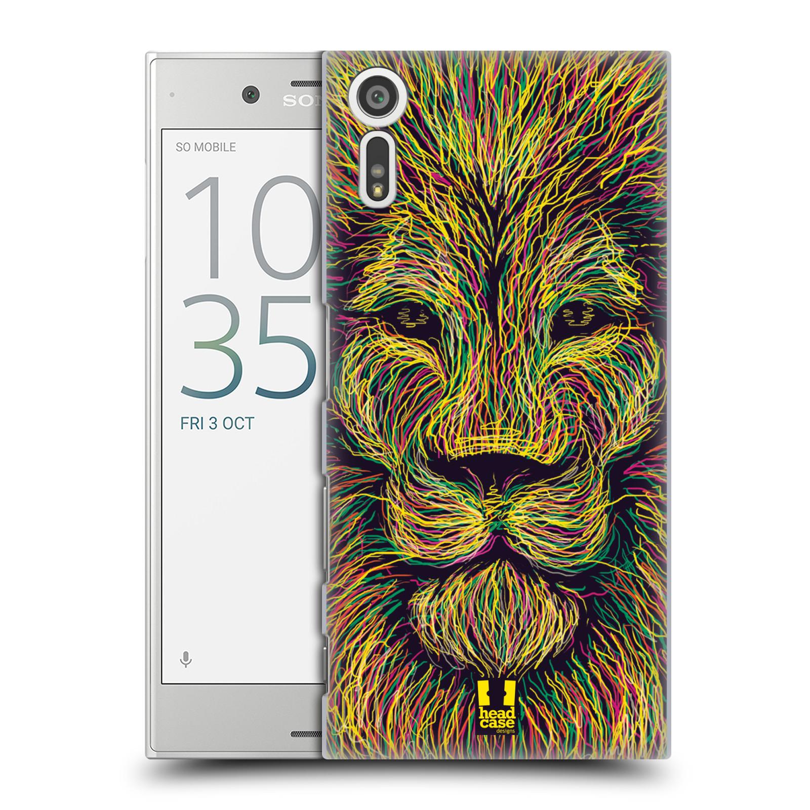 HEAD CASE plastový obal na mobil Sony Xperia XZ vzor zvíře čmáranice lev