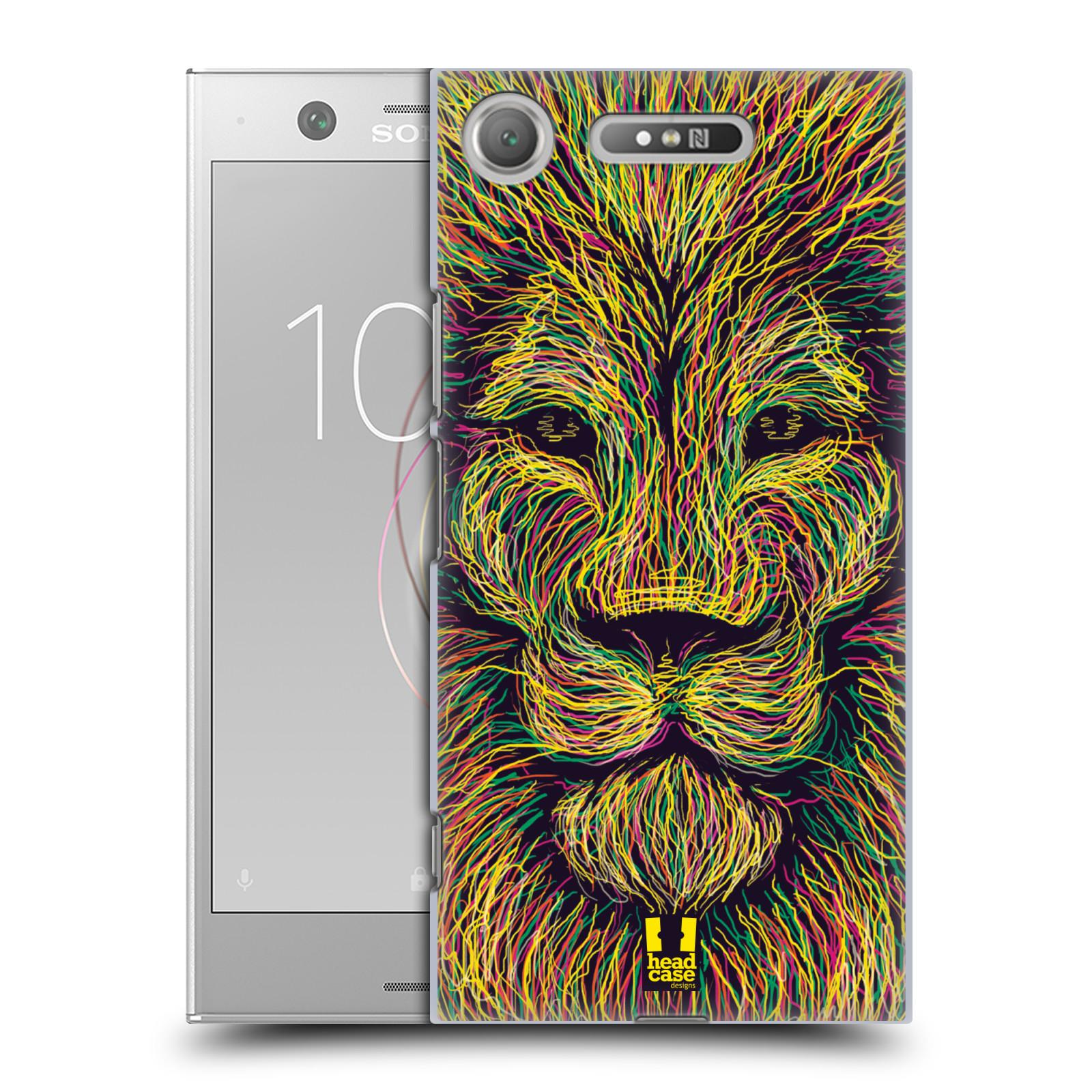 HEAD CASE plastový obal na mobil Sony Xperia XZ1 vzor zvíře čmáranice lev