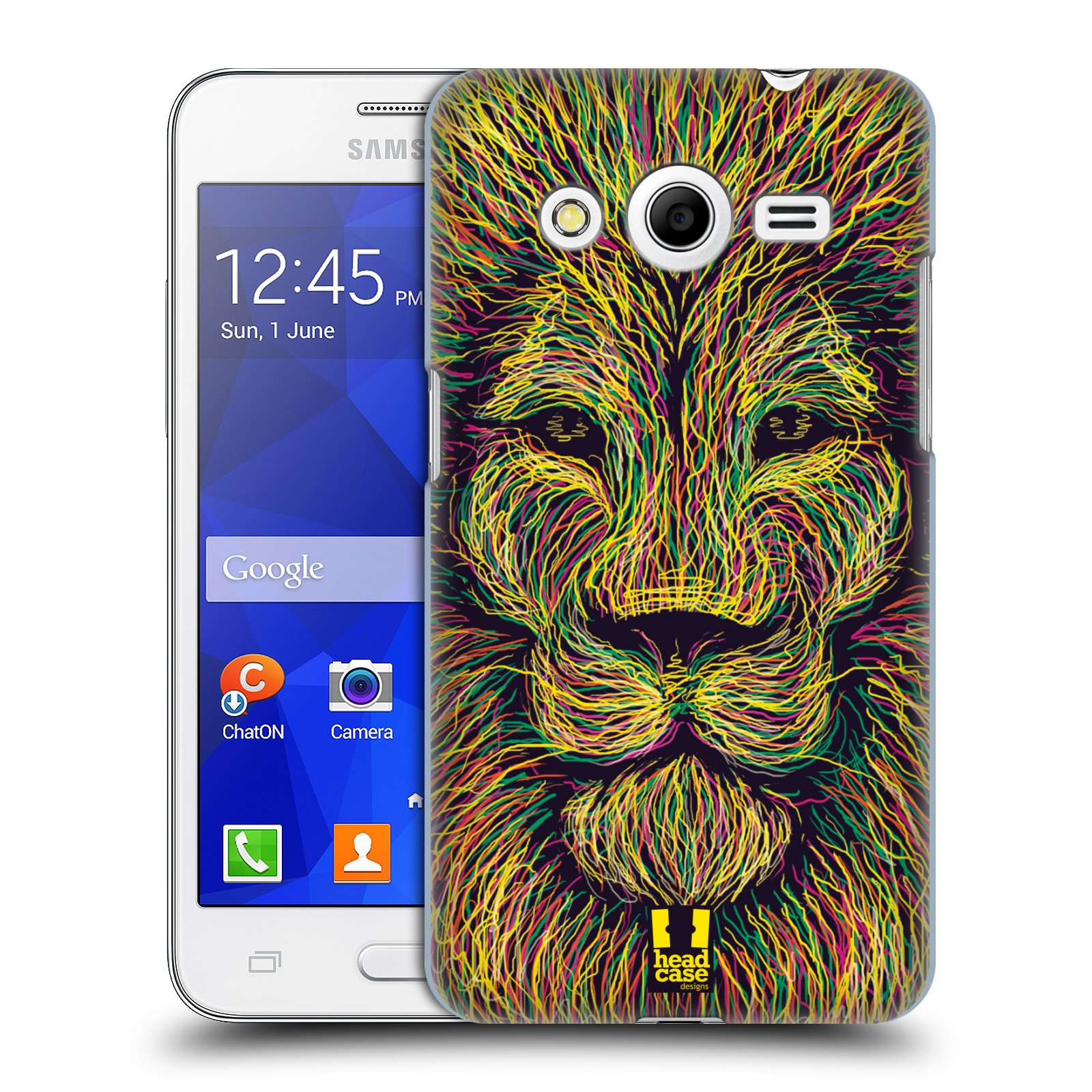 HEAD CASE plastový obal na mobil SAMSUNG GALAXY Core 2 (G355H) vzor zvíře čmáranice lev
