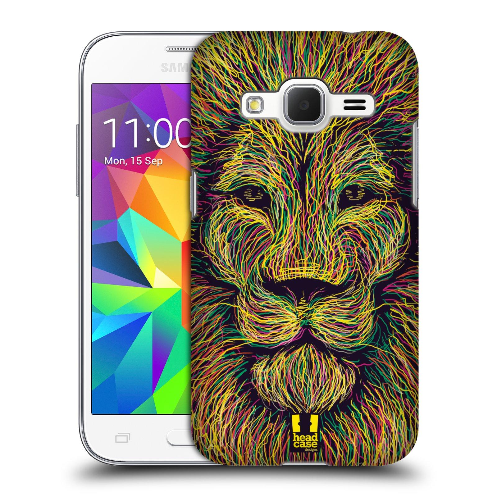 HEAD CASE plastový obal na mobil SAMSUNG GALAXY Core Prime (Core Prime VE) vzor zvíře čmáranice lev