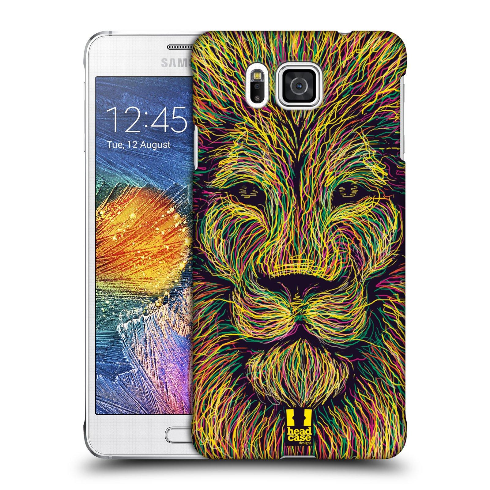 HEAD CASE plastový obal na mobil SAMSUNG Galaxy Alpha (G850) vzor zvíře čmáranice lev