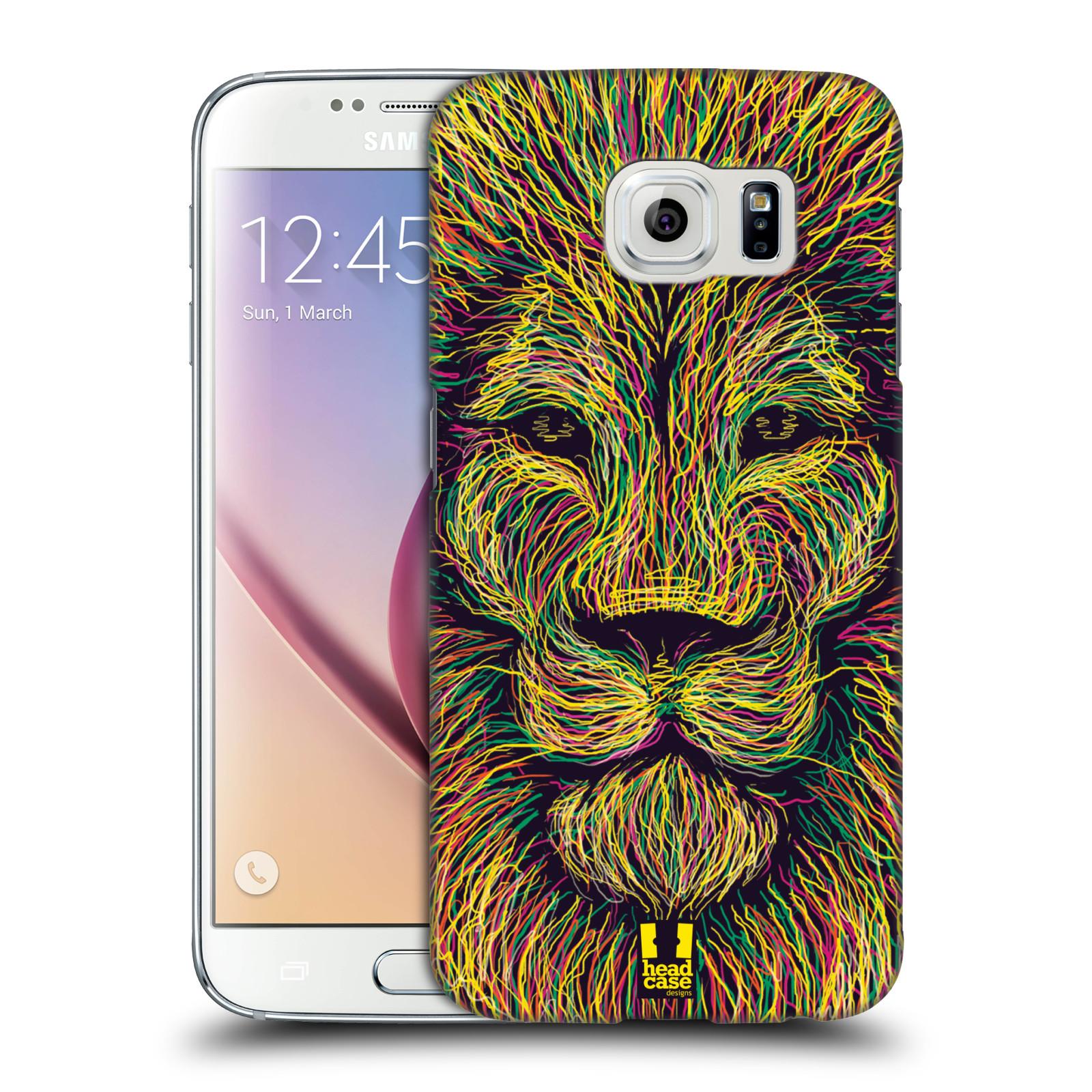 HEAD CASE plastový obal na mobil SAMSUNG Galaxy S6 (G9200, G920F) vzor zvíře čmáranice lev