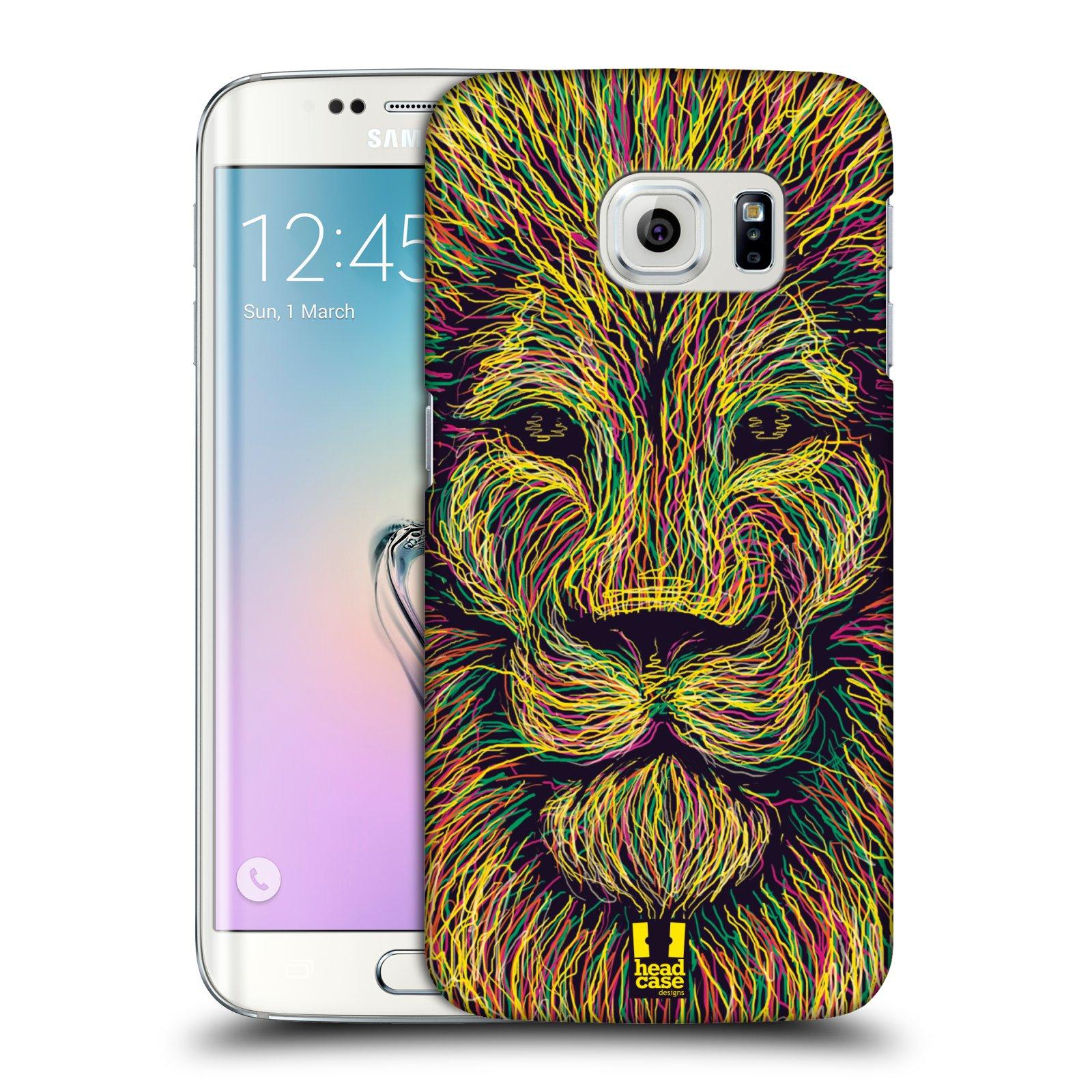 HEAD CASE plastový obal na mobil SAMSUNG Galaxy S6 EDGE (G9250, G925, G925F) vzor zvíře čmáranice lev