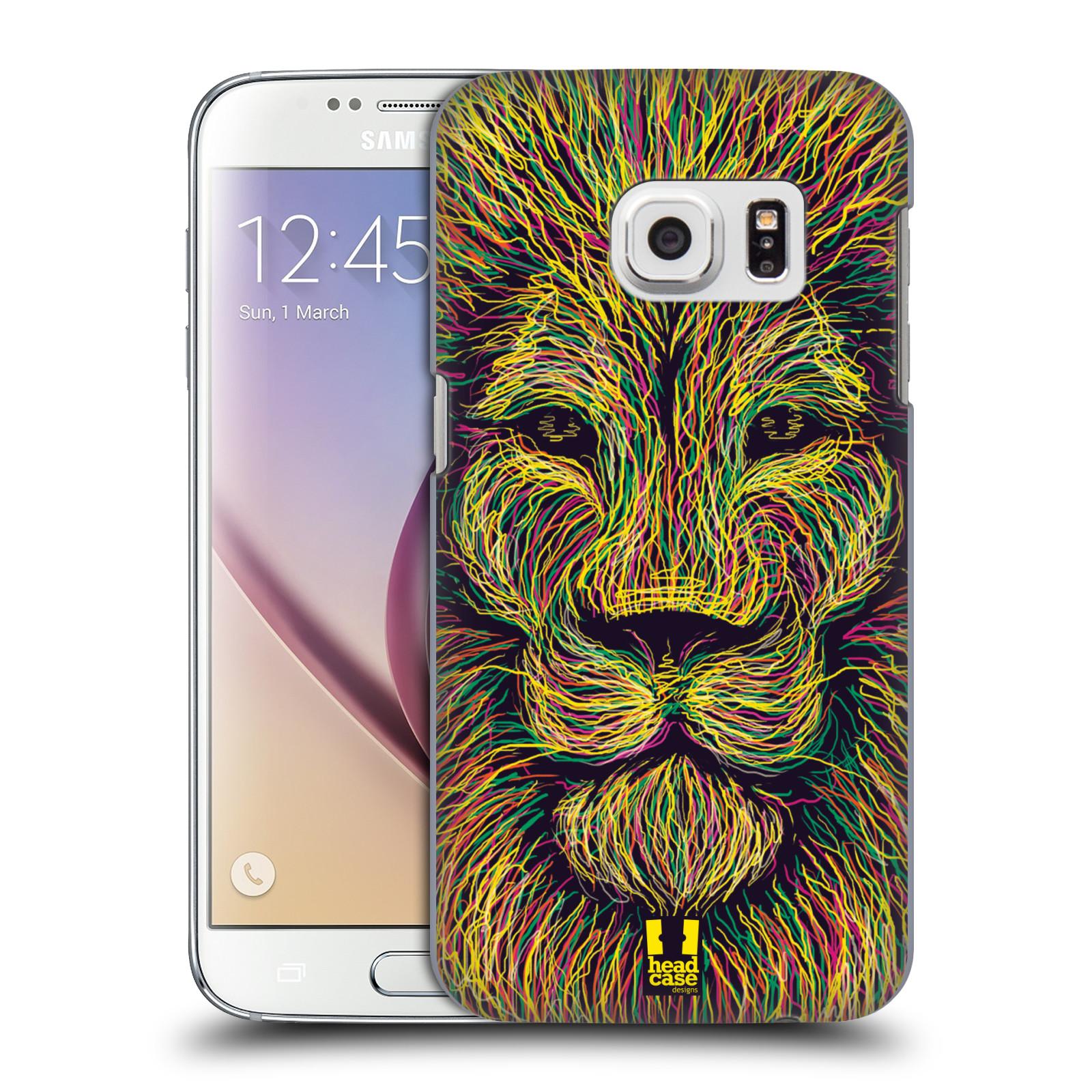 HEAD CASE plastový obal na mobil SAMSUNG GALAXY S7 vzor zvíře čmáranice lev