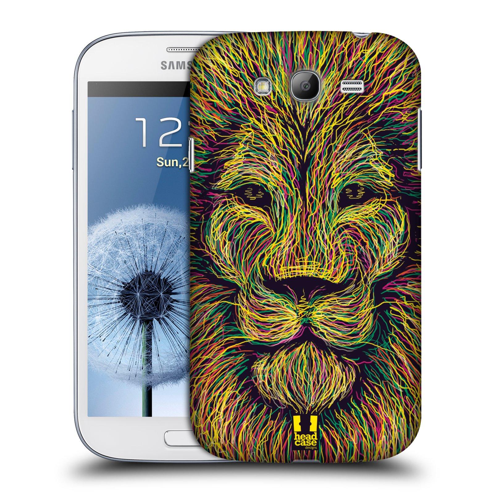 HEAD CASE plastový obal na mobil SAMSUNG GALAXY Grand i9080 vzor zvíře čmáranice lev