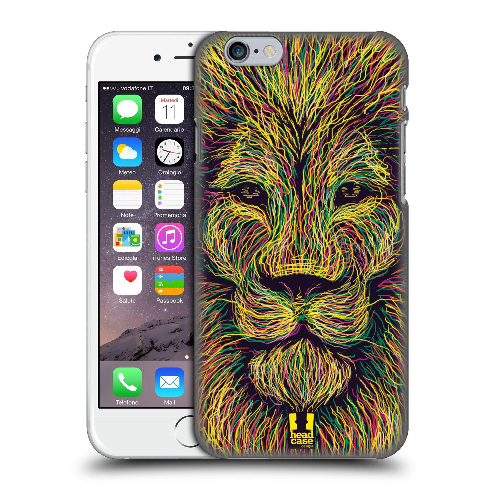 Plastové pouzdro pro mobil Apple Iphone 6/6S vzor zvíře čmáranice lev