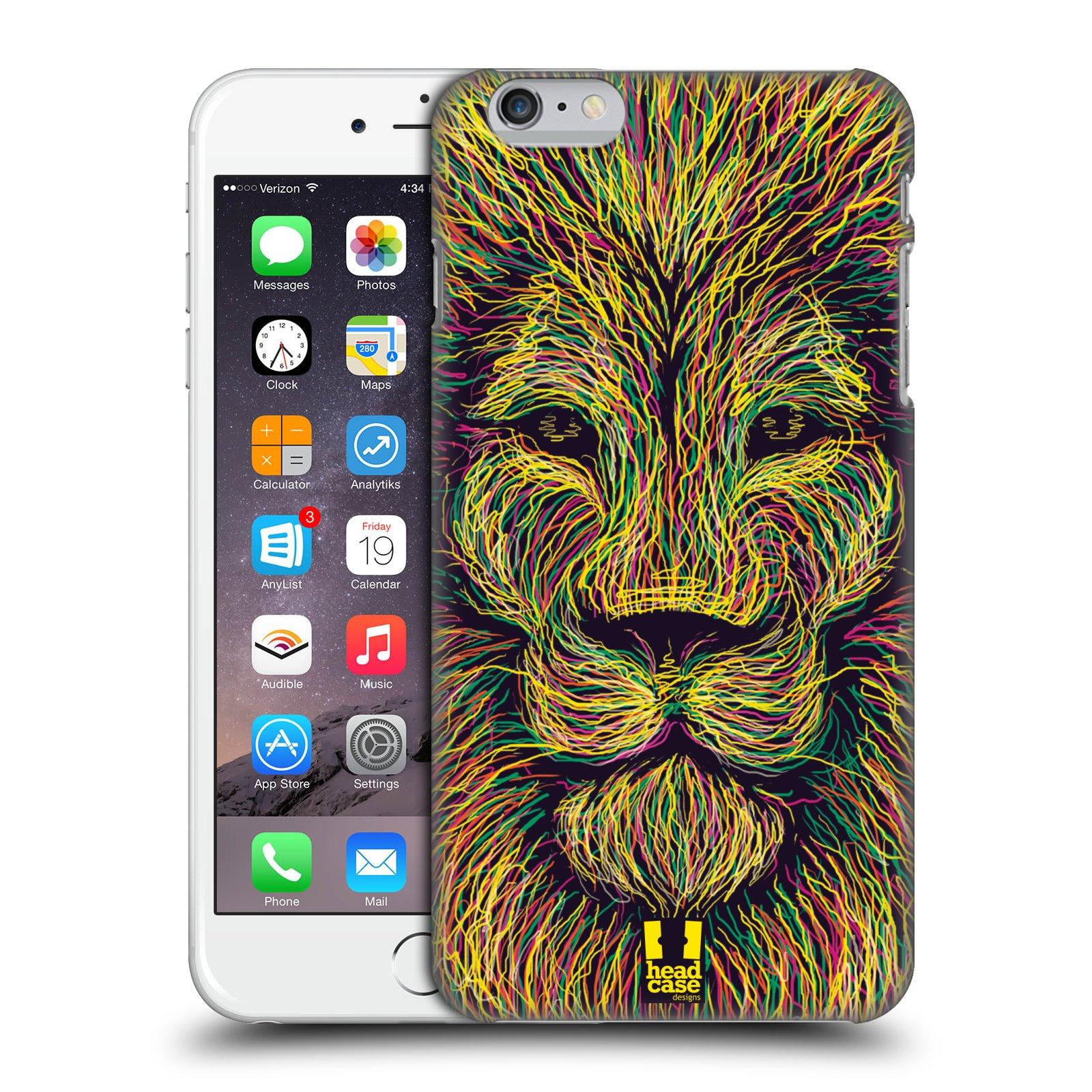 Plastové pouzdro pro mobil Apple Iphone 6 PLUS / 6S PLUS vzor zvíře čmáranice lev