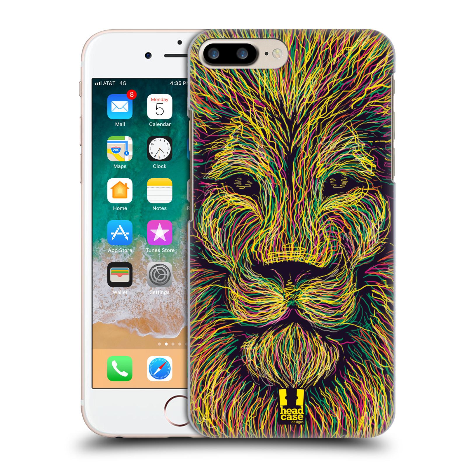 HEAD CASE plastový obal na mobil Apple Iphone 7 PLUS vzor zvíře čmáranice lev