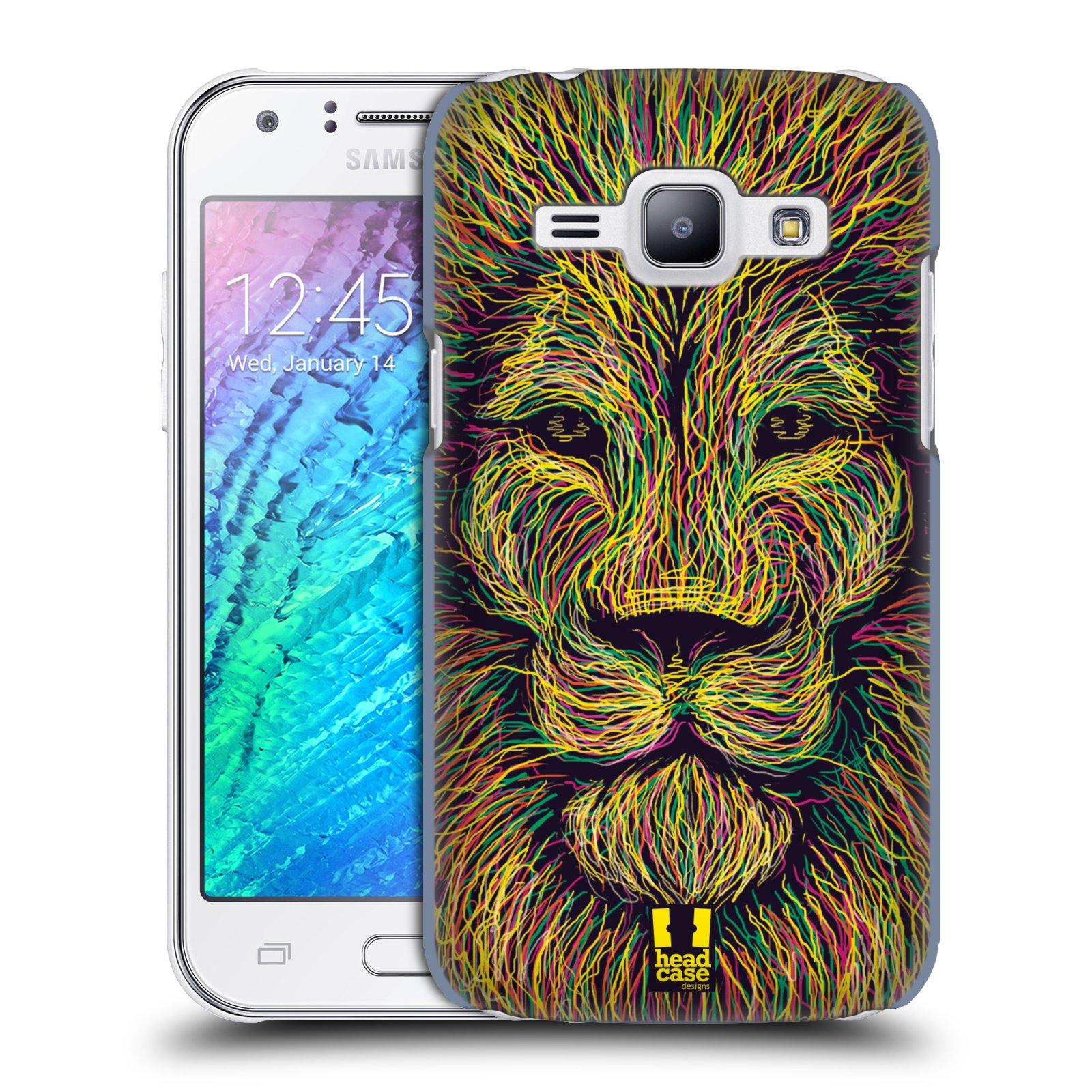 HEAD CASE plastový obal na mobil SAMSUNG Galaxy J1, J100 vzor zvíře čmáranice lev