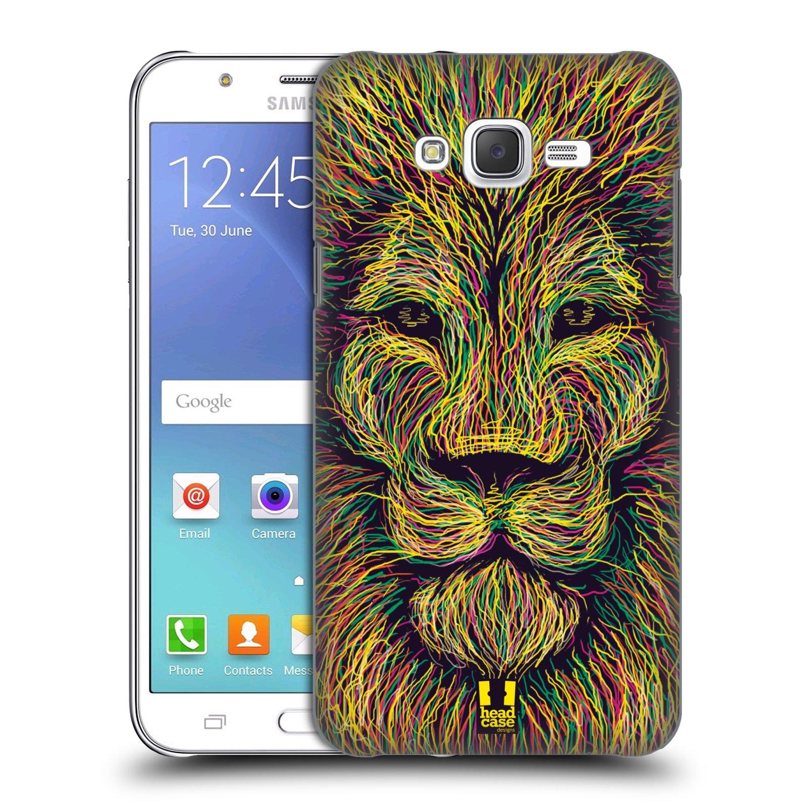 HEAD CASE plastový obal na mobil SAMSUNG Galaxy J7, J700 vzor zvíře čmáranice lev