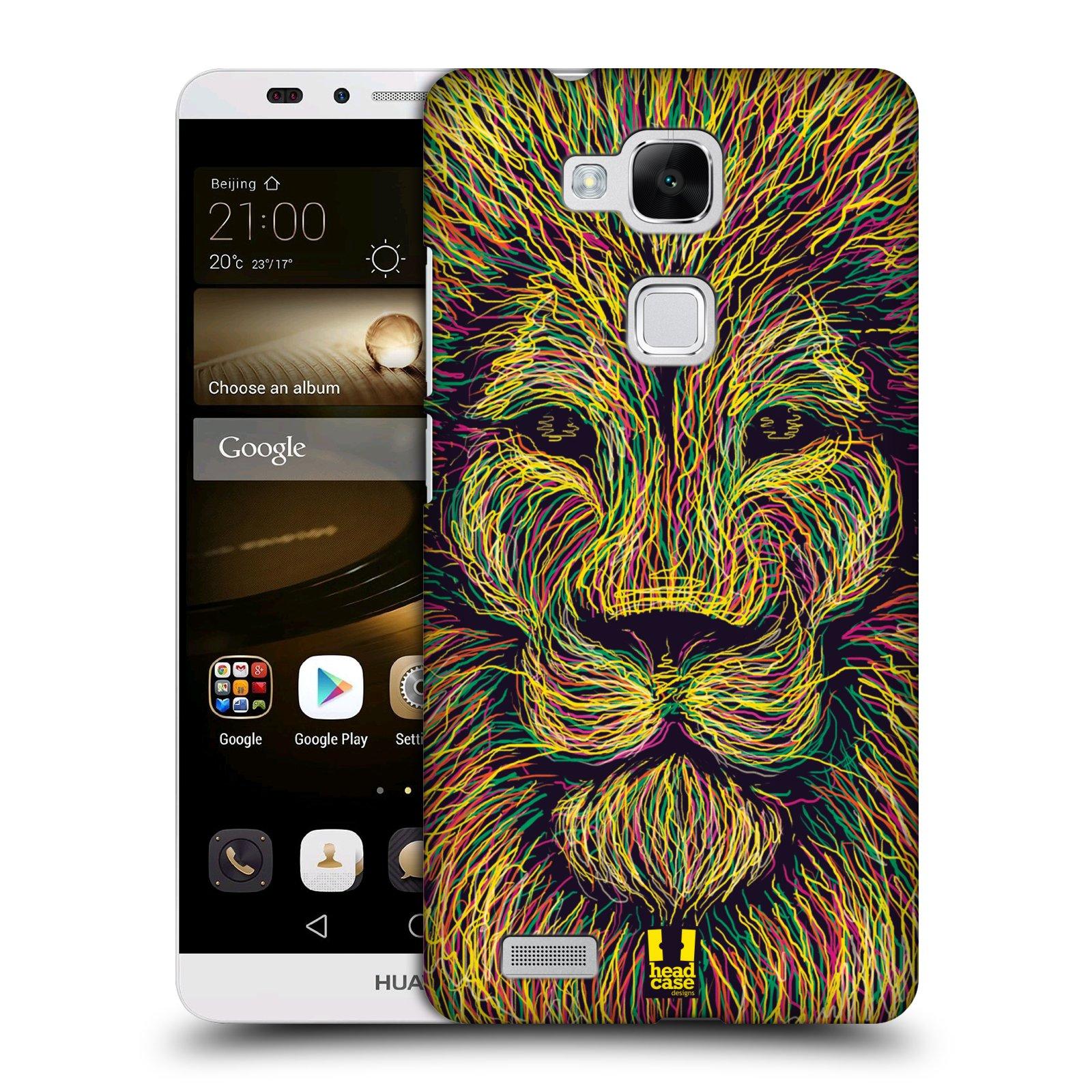 HEAD CASE plastový obal na mobil Huawei Mate 7 vzor zvíře čmáranice lev