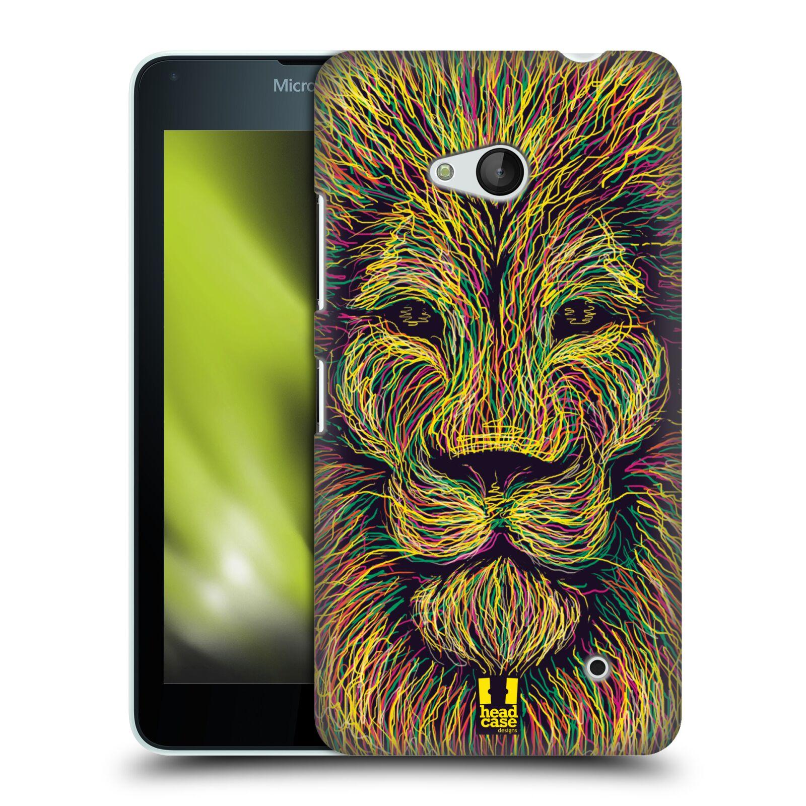 HEAD CASE plastový obal na mobil Nokia Lumia 640 vzor zvíře čmáranice lev