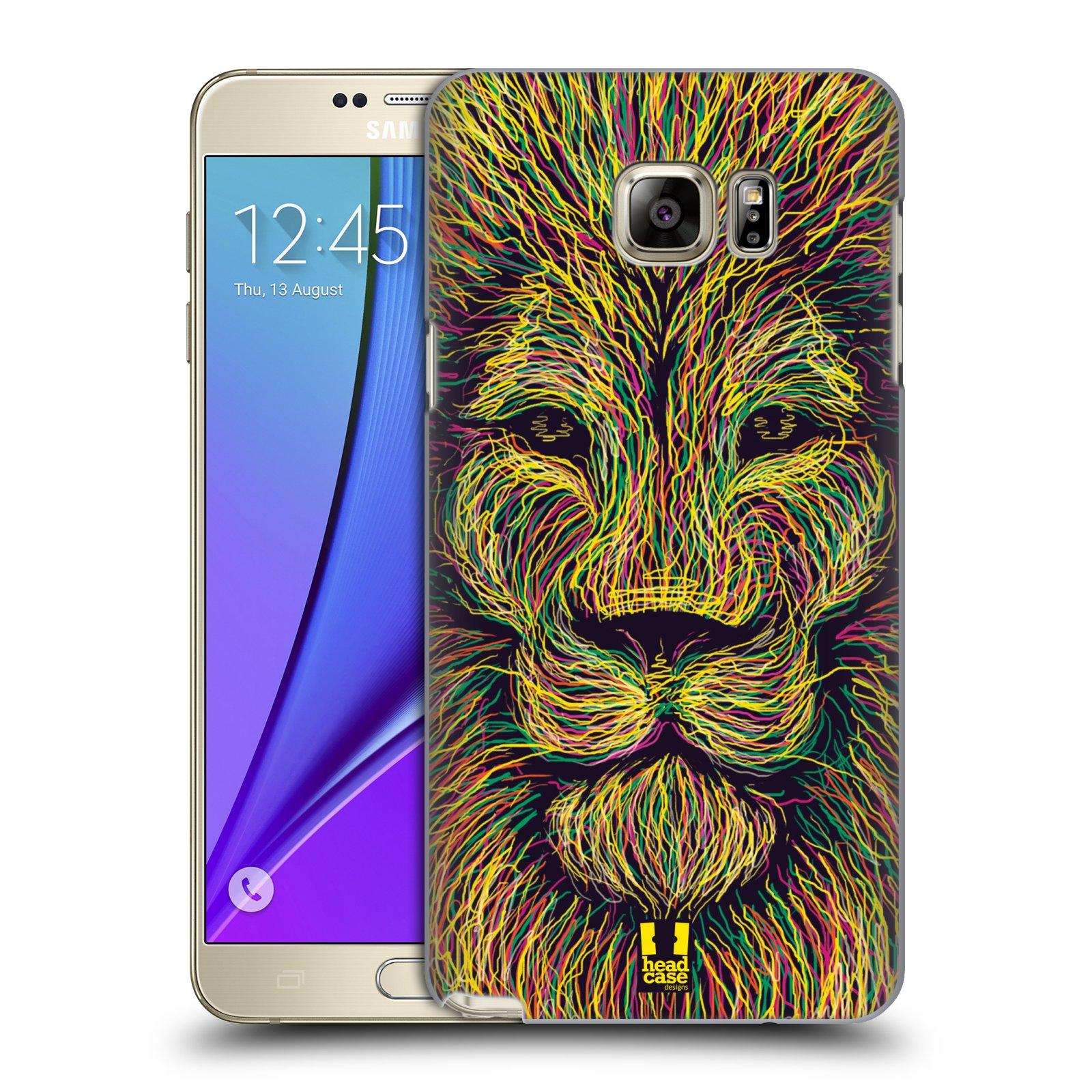 HEAD CASE plastový obal na mobil SAMSUNG Galaxy Note 5 (N920) vzor zvíře čmáranice lev