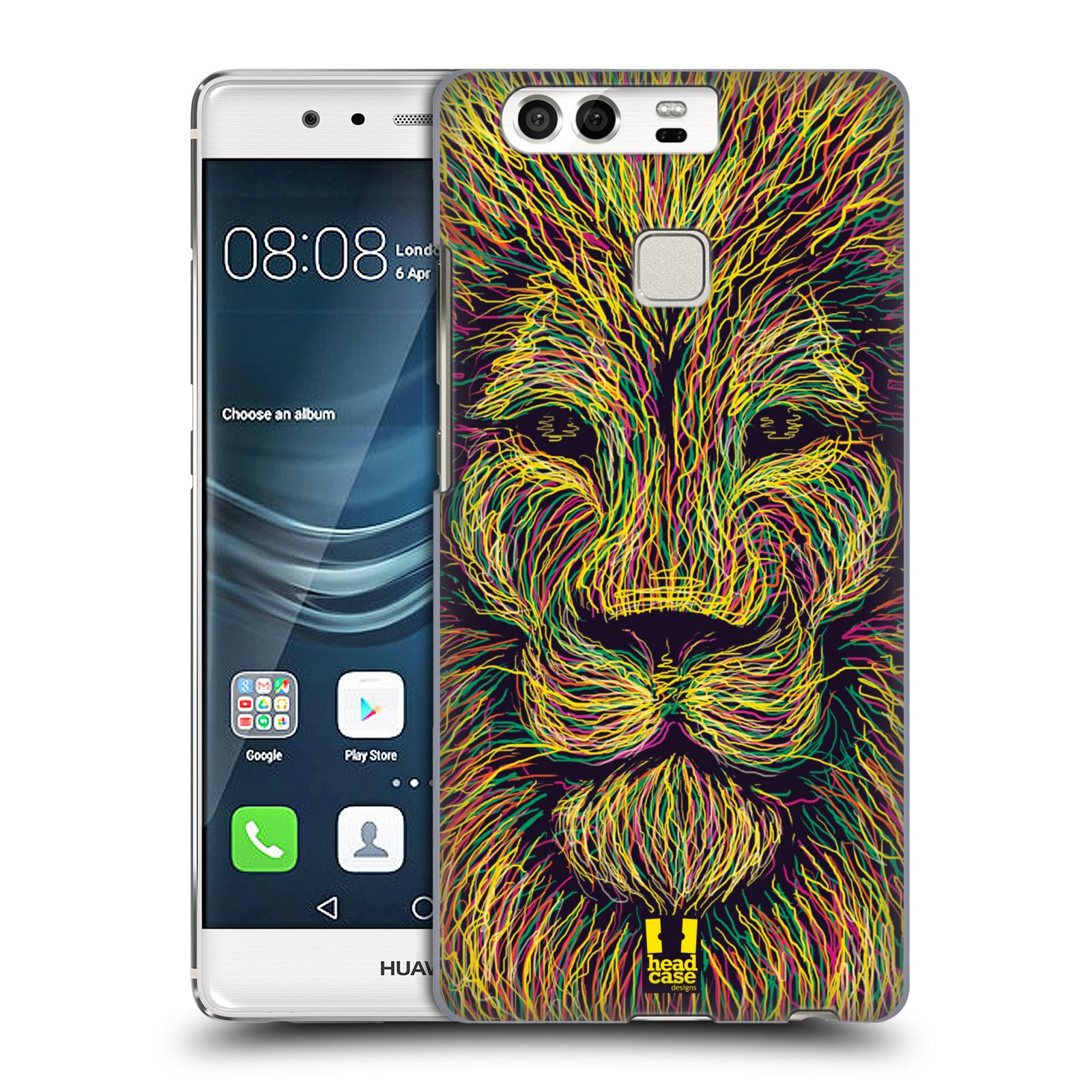 HEAD CASE plastový obal na mobil Huawei P9 / P9 DUAL SIM vzor zvíře čmáranice lev